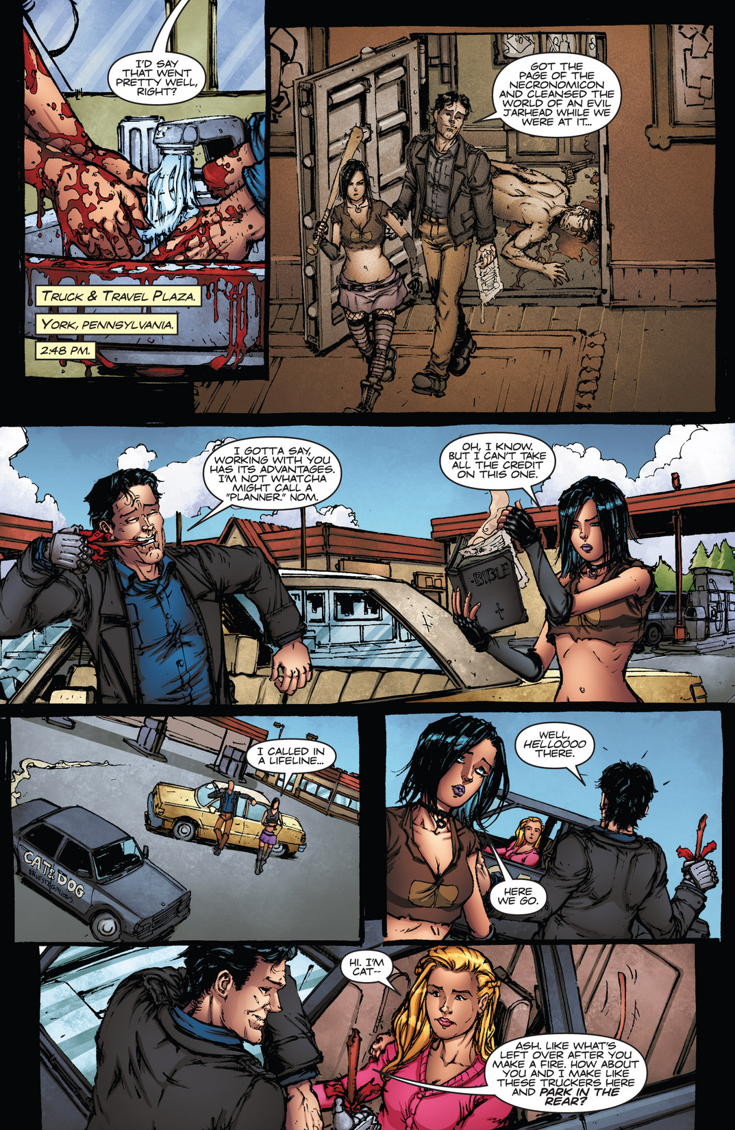 Read online Army of Darkness vs. Hack/Slash comic -  Issue #4 - 5