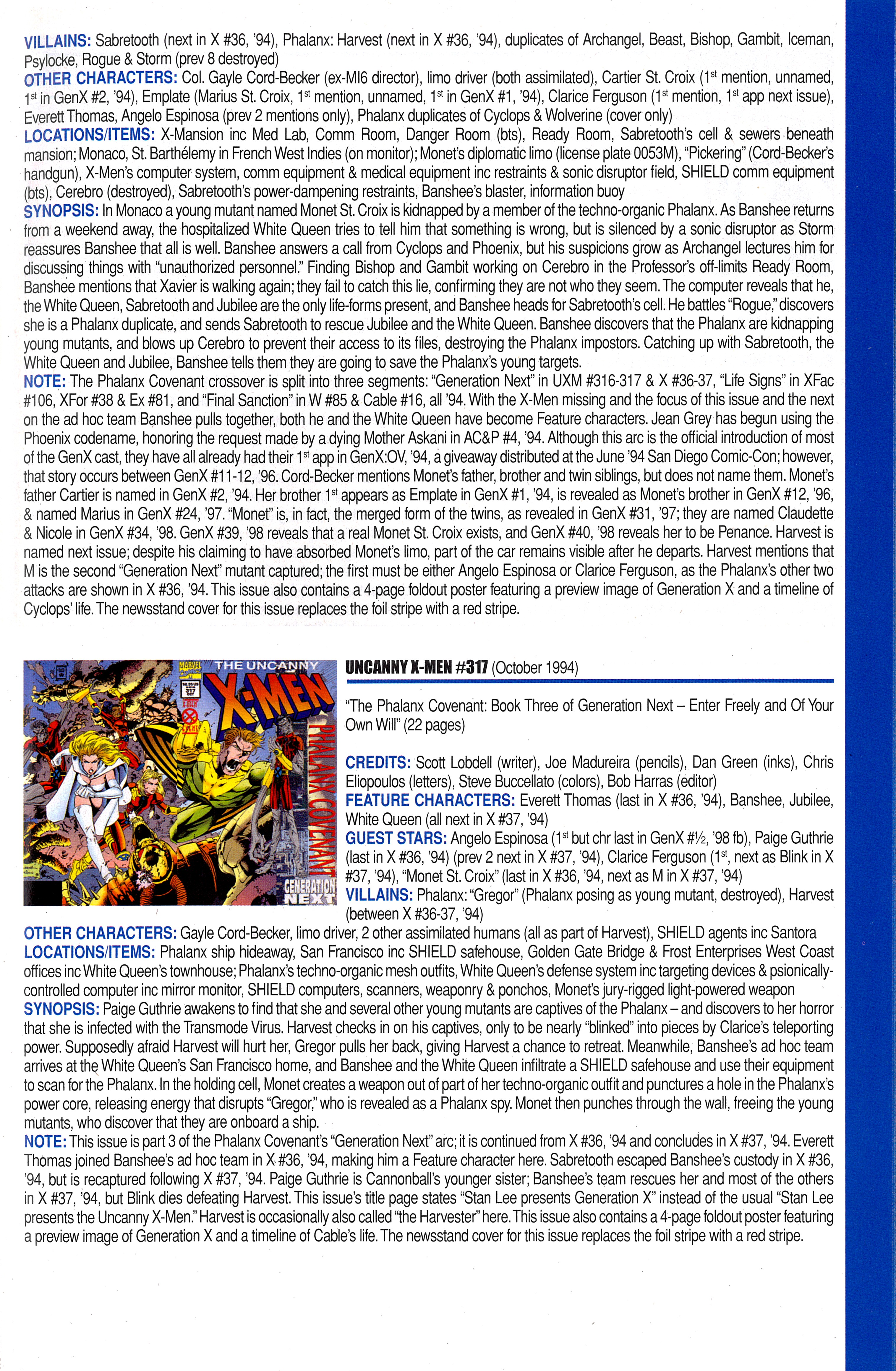 Read online Official Index to the Marvel Universe comic -  Issue #8 - 53