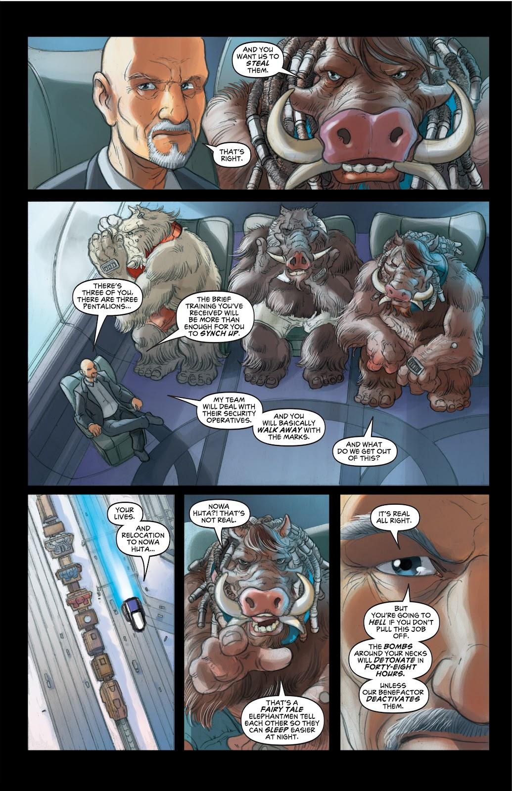 Read online Elephantmen 2261 Season Two: The Pentalion Job comic -  Issue # TPB - 27