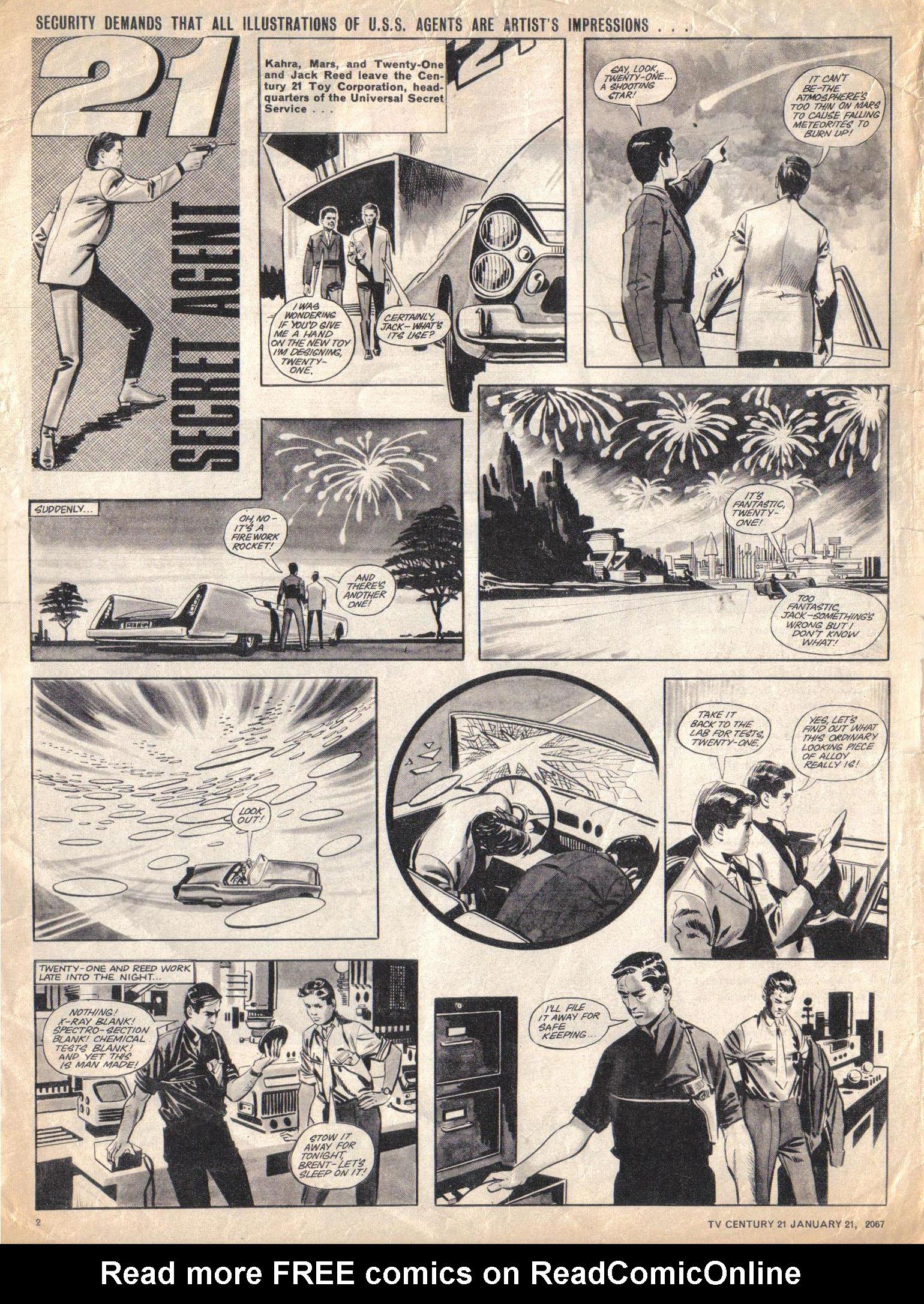 Read online TV Century 21 (TV 21) comic -  Issue #105 - 2