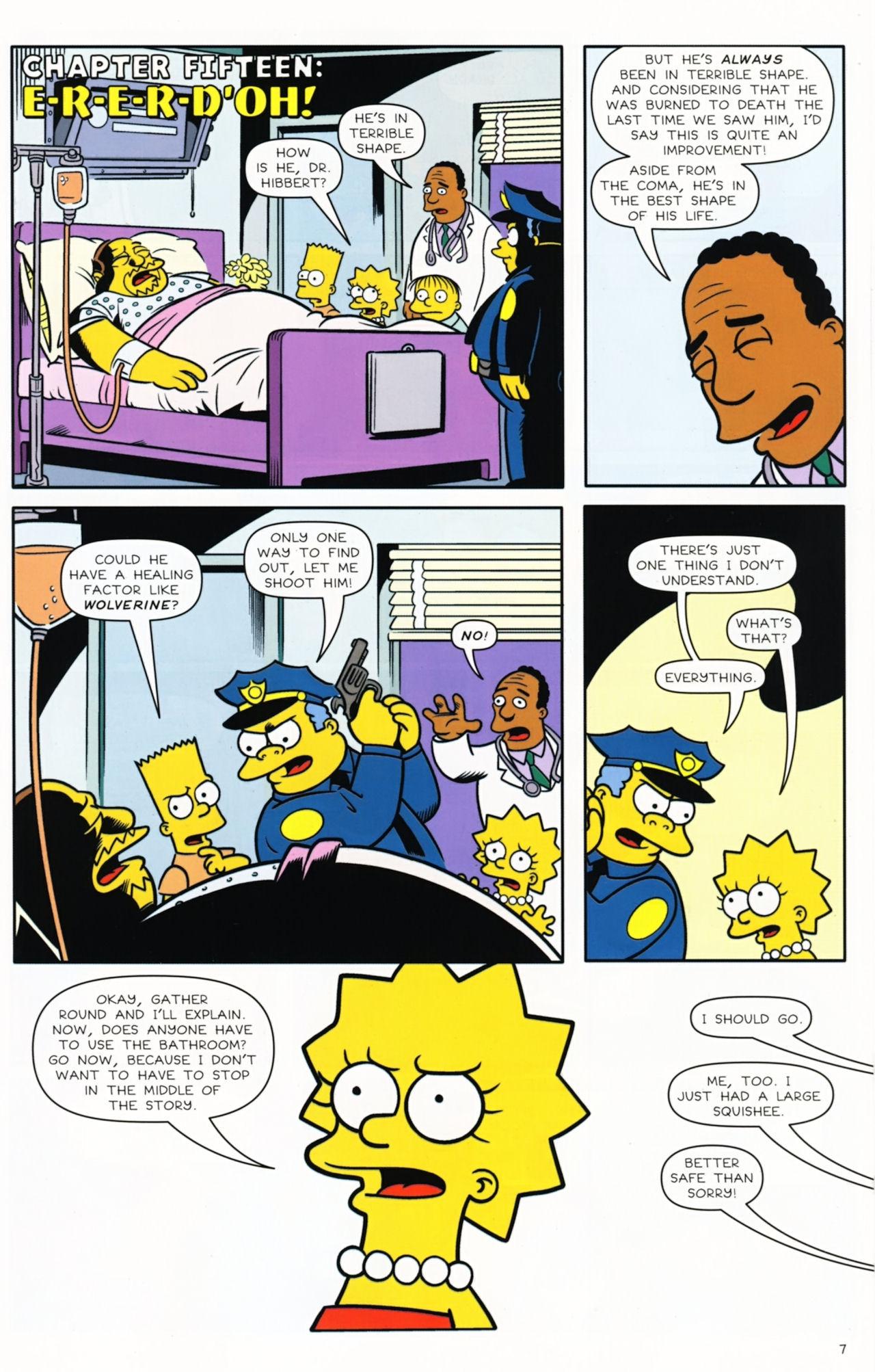 Read online Bongo Comics presents Comic Book Guy: The Comic Book comic -  Issue #5 - 9