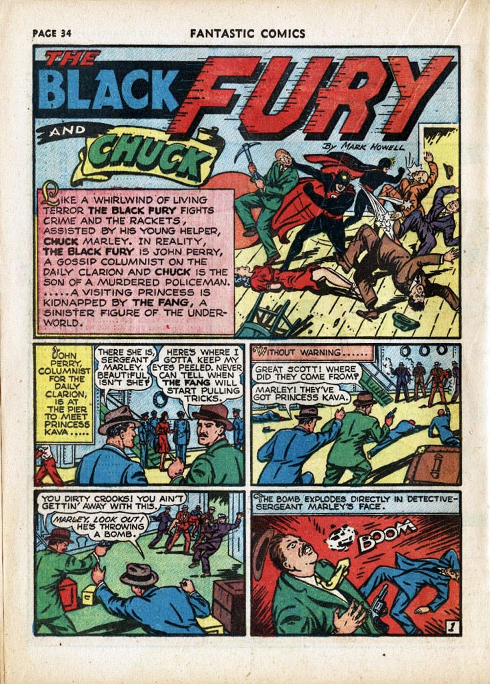 Read online Fantastic Comics comic -  Issue #17 - 35