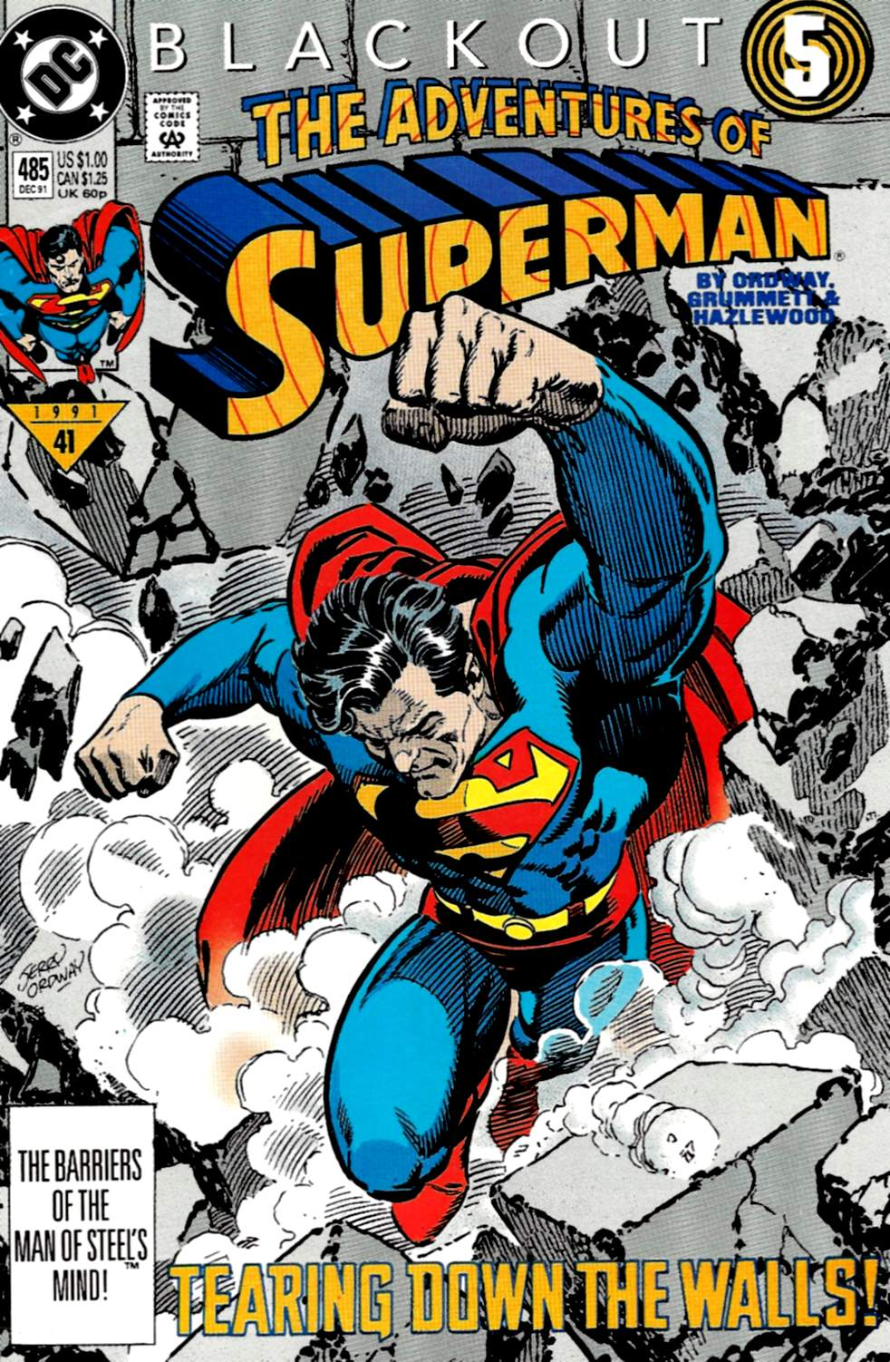 Read online Adventures of Superman (1987) comic -  Issue #485 - 1