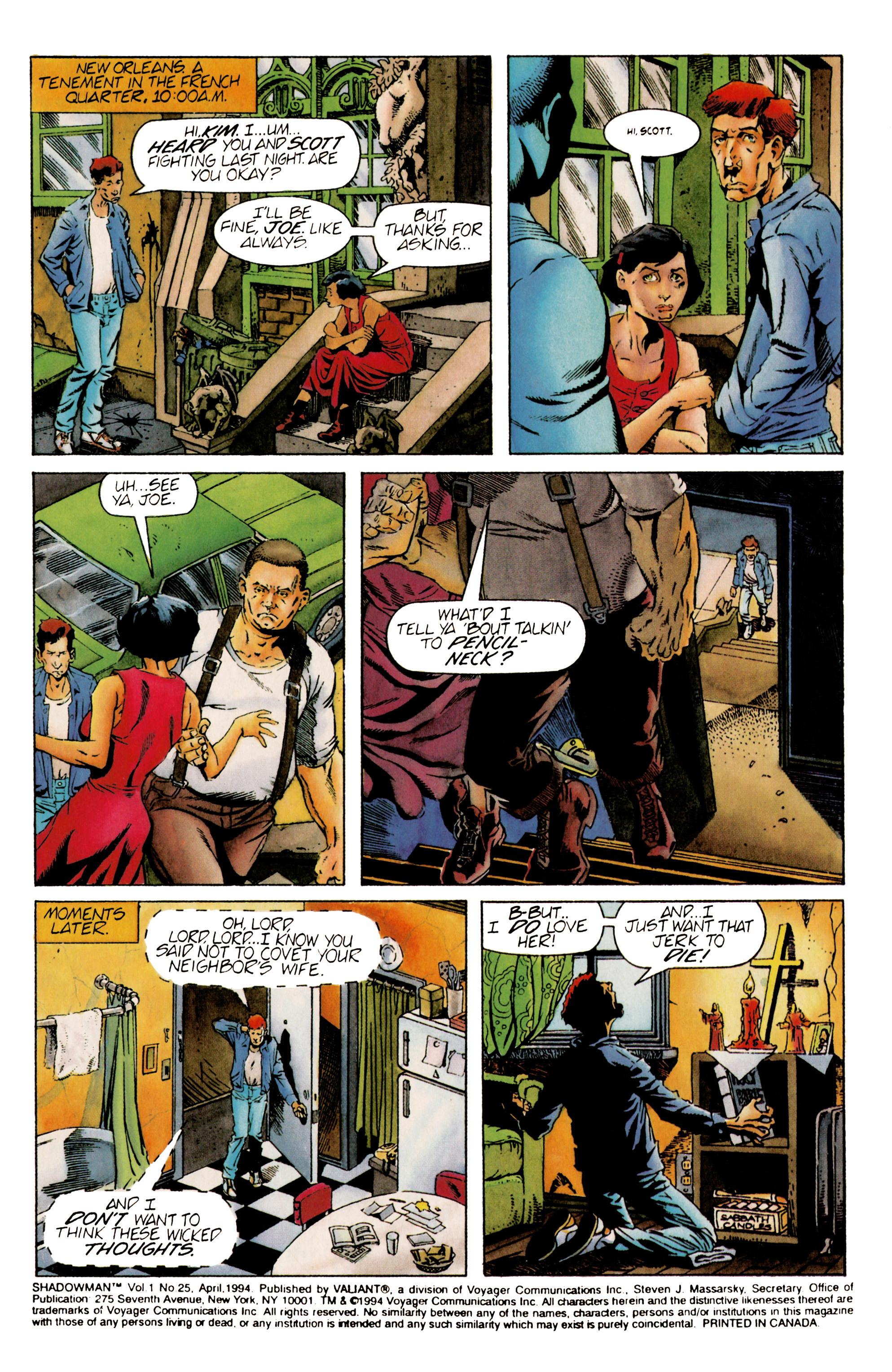 Read online Shadowman (1992) comic -  Issue #25 - 2