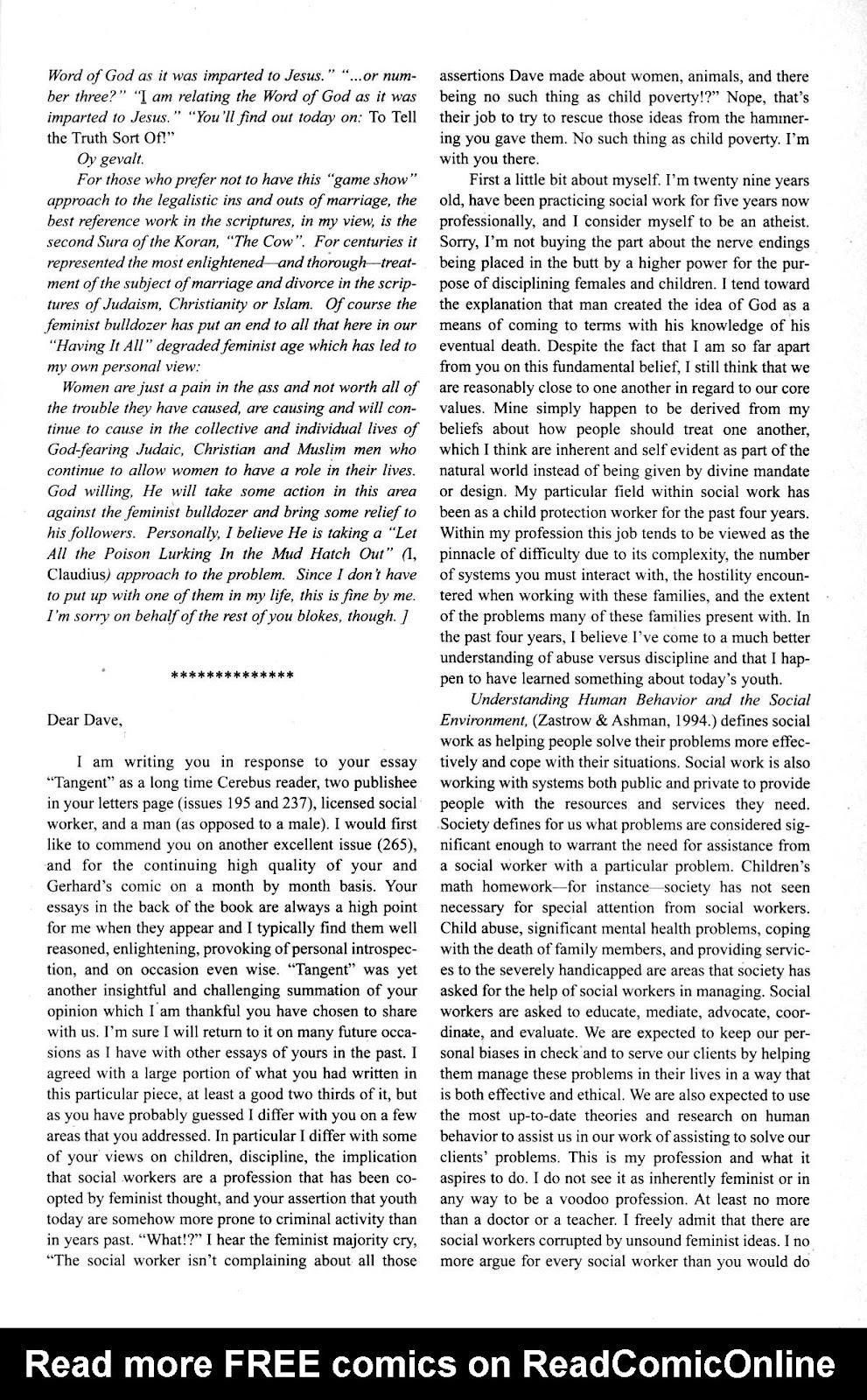 Cerebus Issue #275 #274 - English 25