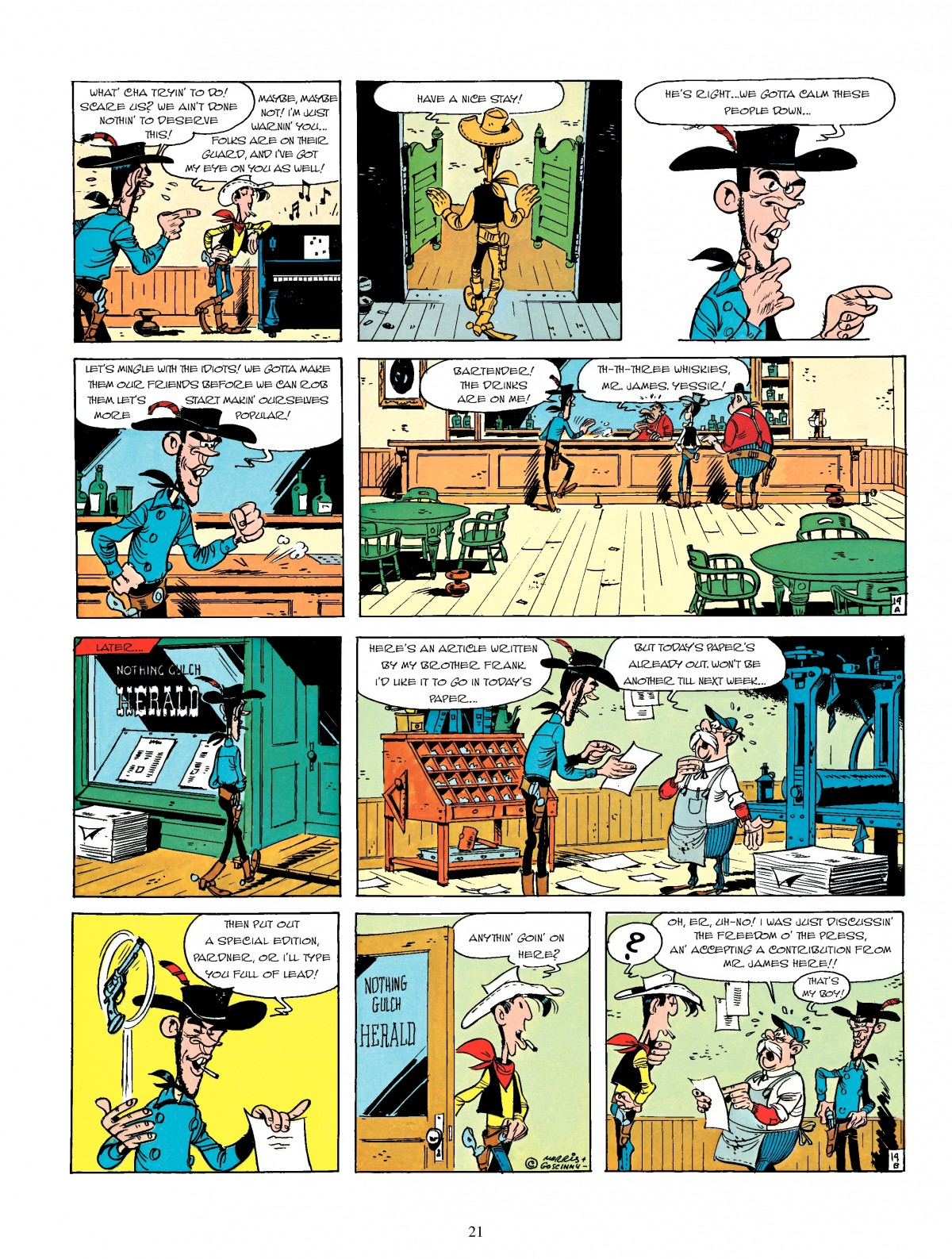 Read online A Lucky Luke Adventure comic -  Issue #4 - 23