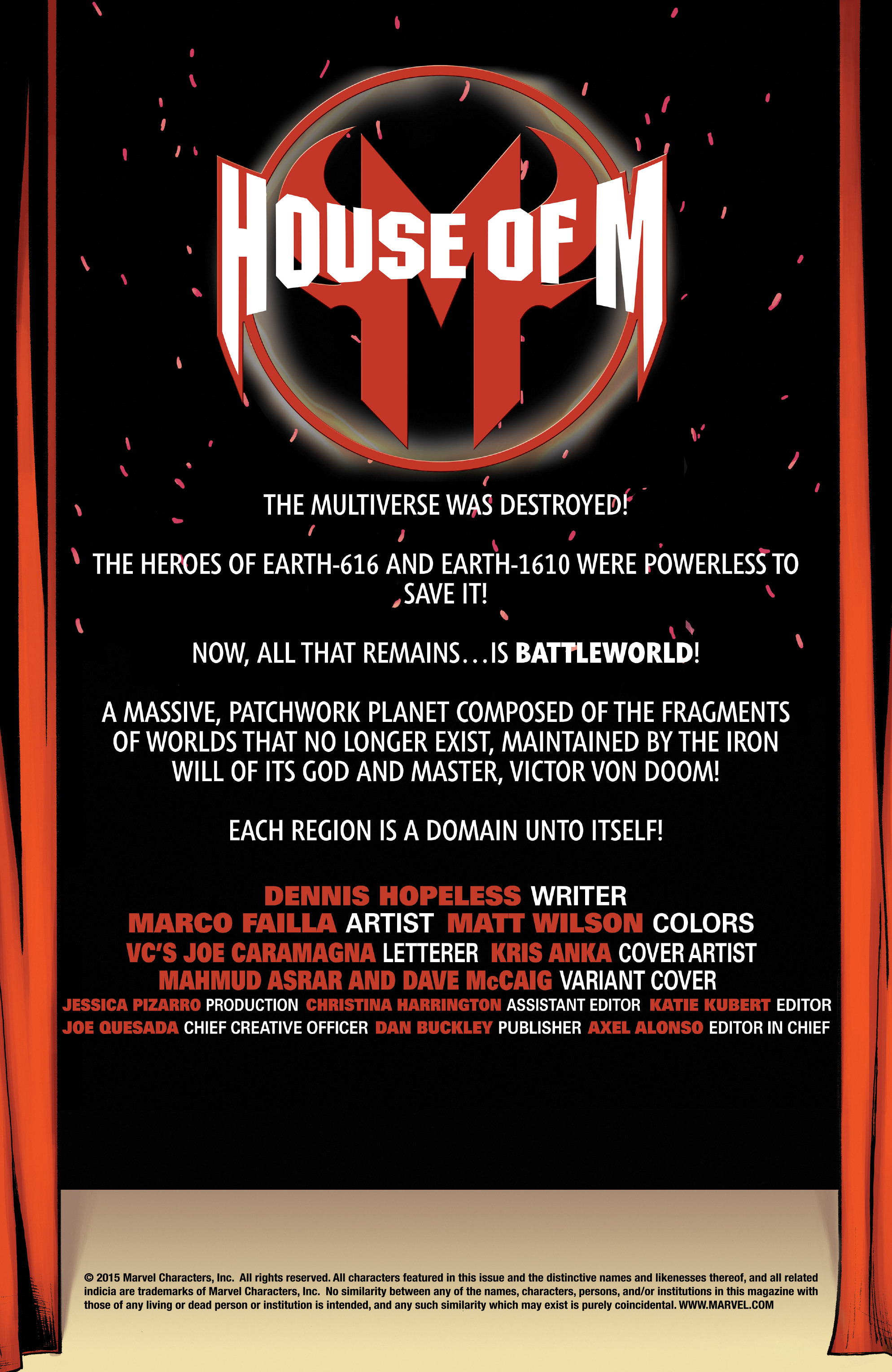 Read online House of M (2015) comic -  Issue #1 - 2