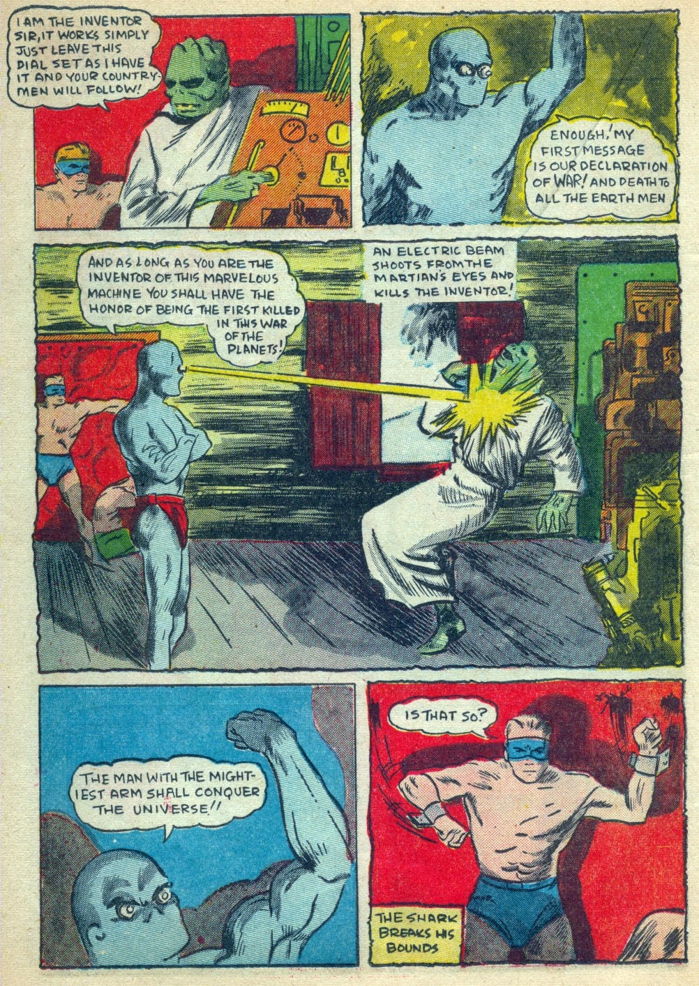 Read online Amazing Man Comics comic -  Issue #15 - 39