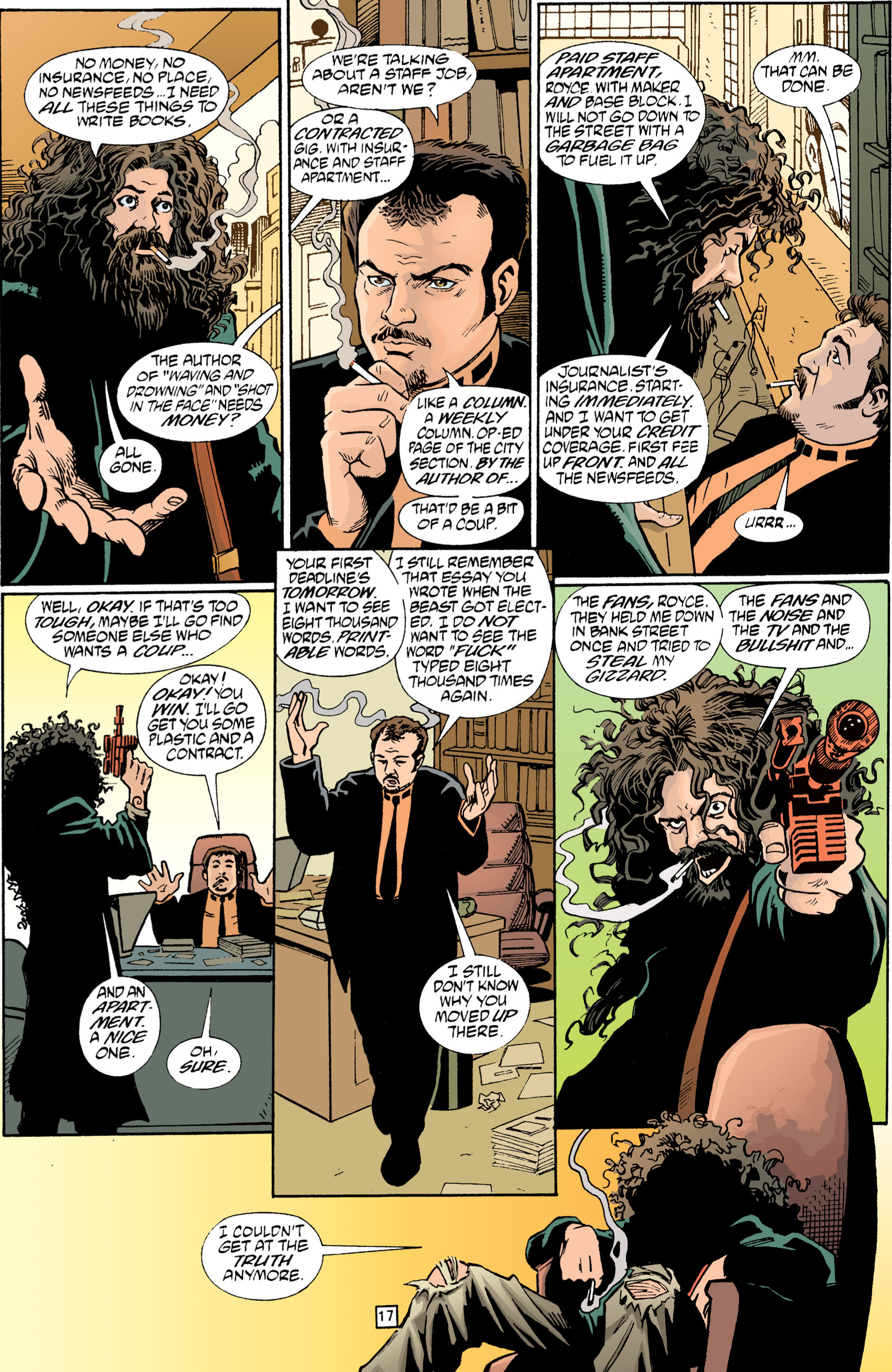 Read online Transmetropolitan comic -  Issue #1 - 18