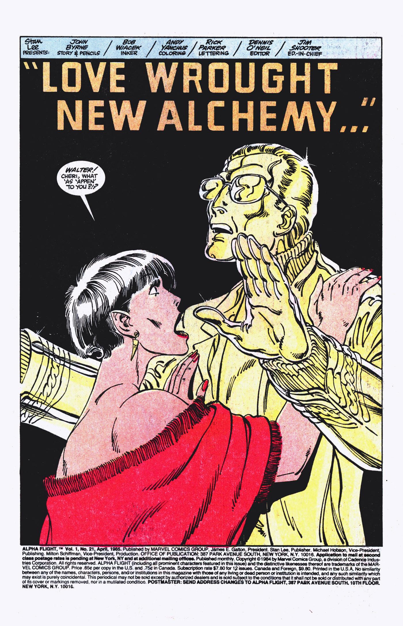 Read online Alpha Flight (1983) comic -  Issue #21 - 2