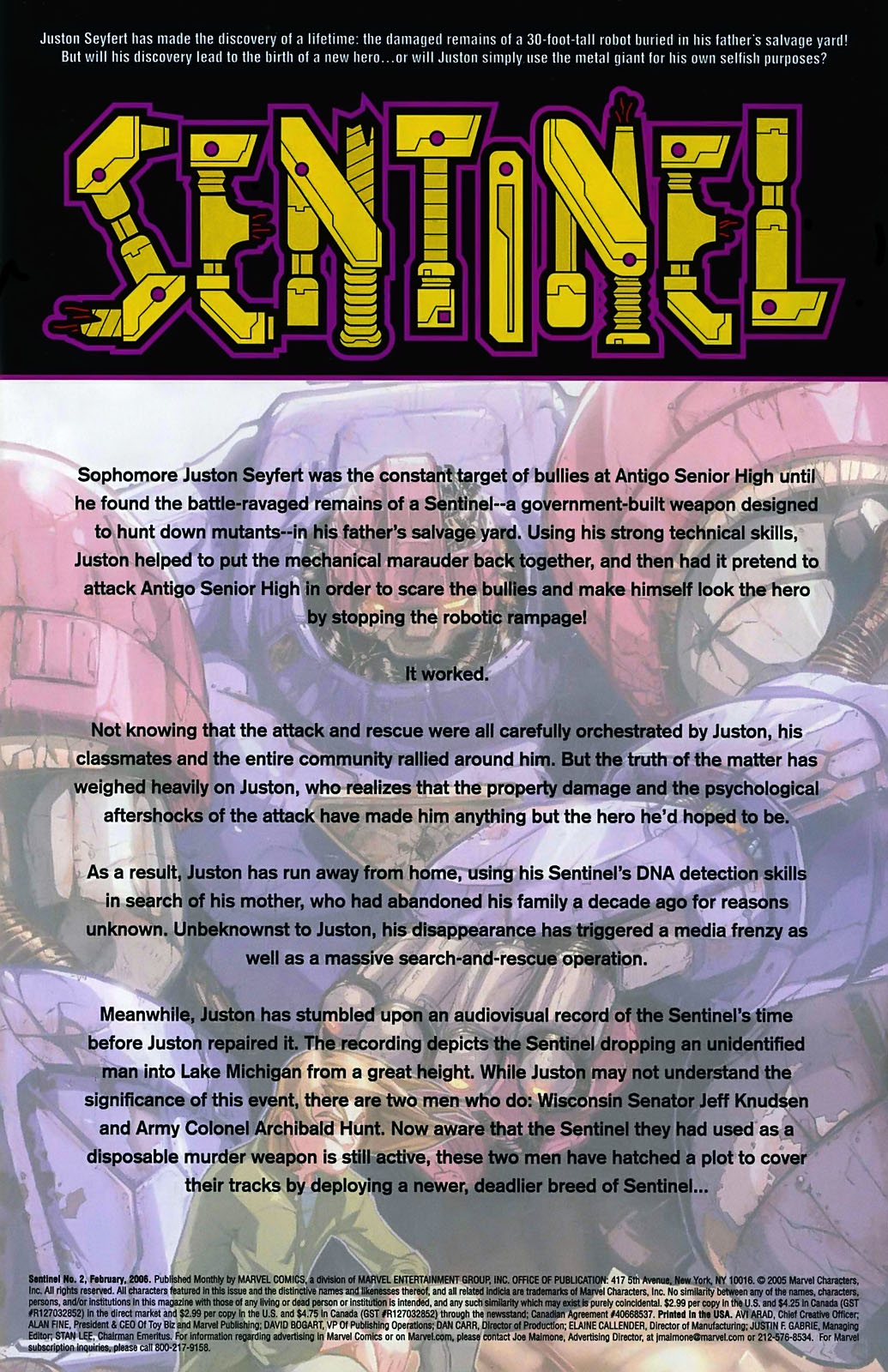 Read online Sentinel (2006) comic -  Issue #2 - 2