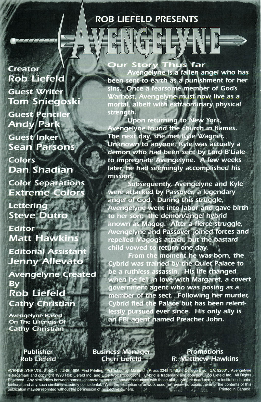 Read online Avengelyne (1996) comic -  Issue #4 - 2