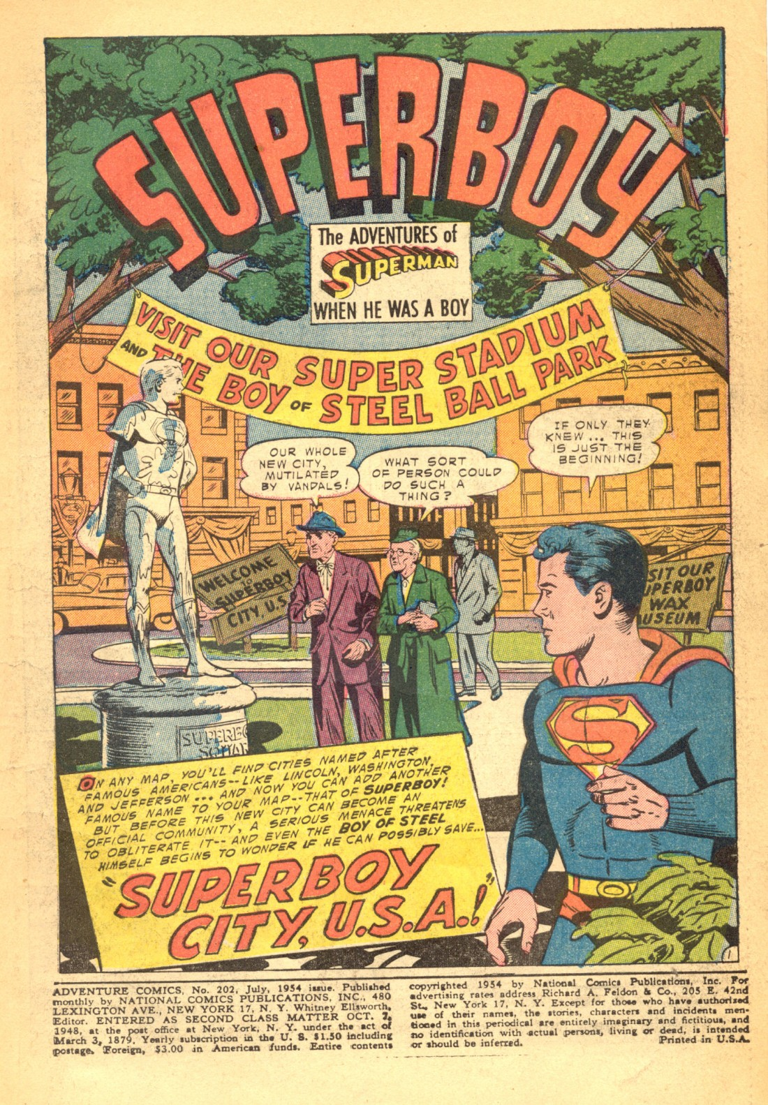 Read online Adventure Comics (1938) comic -  Issue #202 - 3