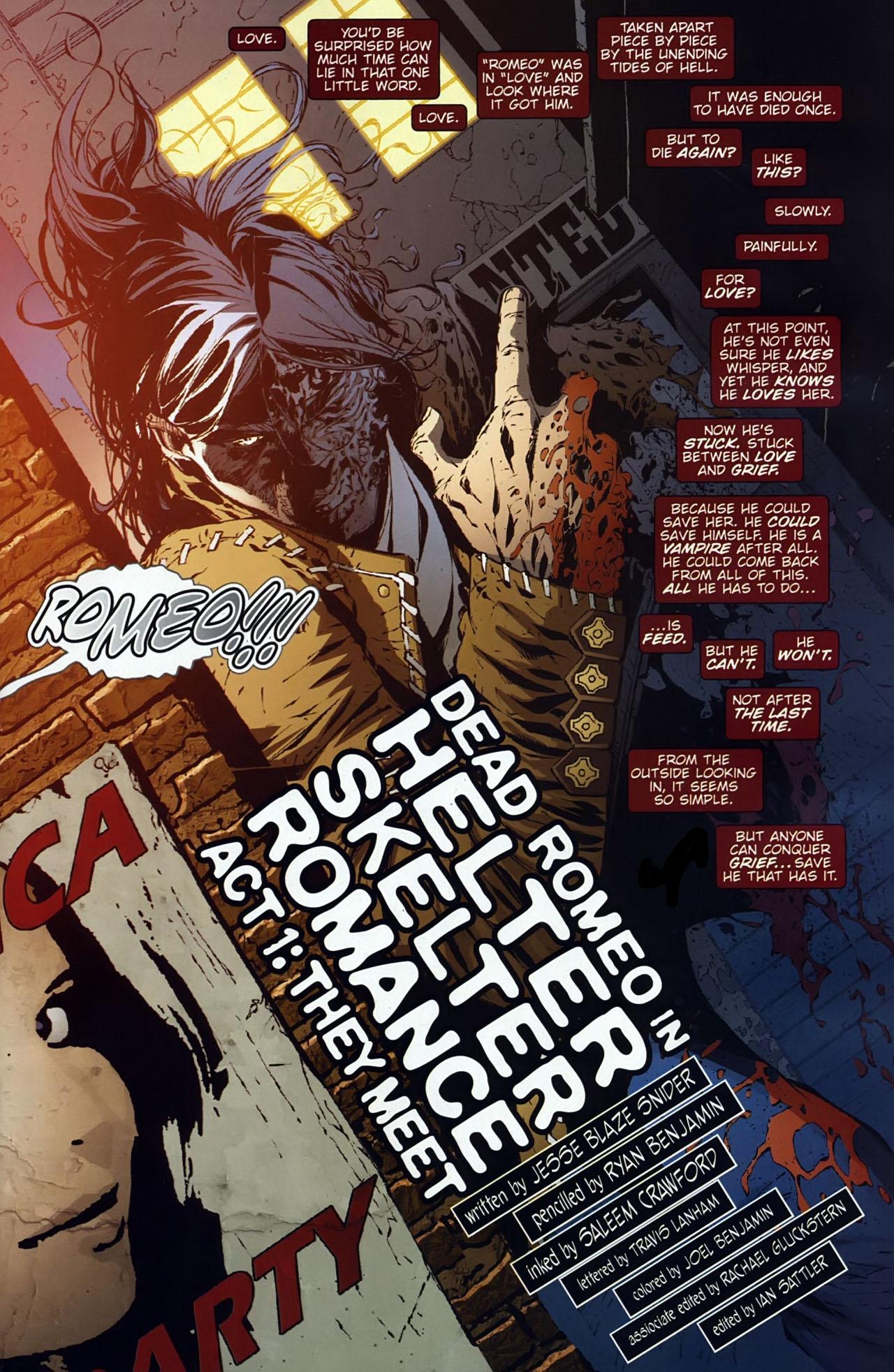 Read online Dead Romeo comic -  Issue #1 - 2