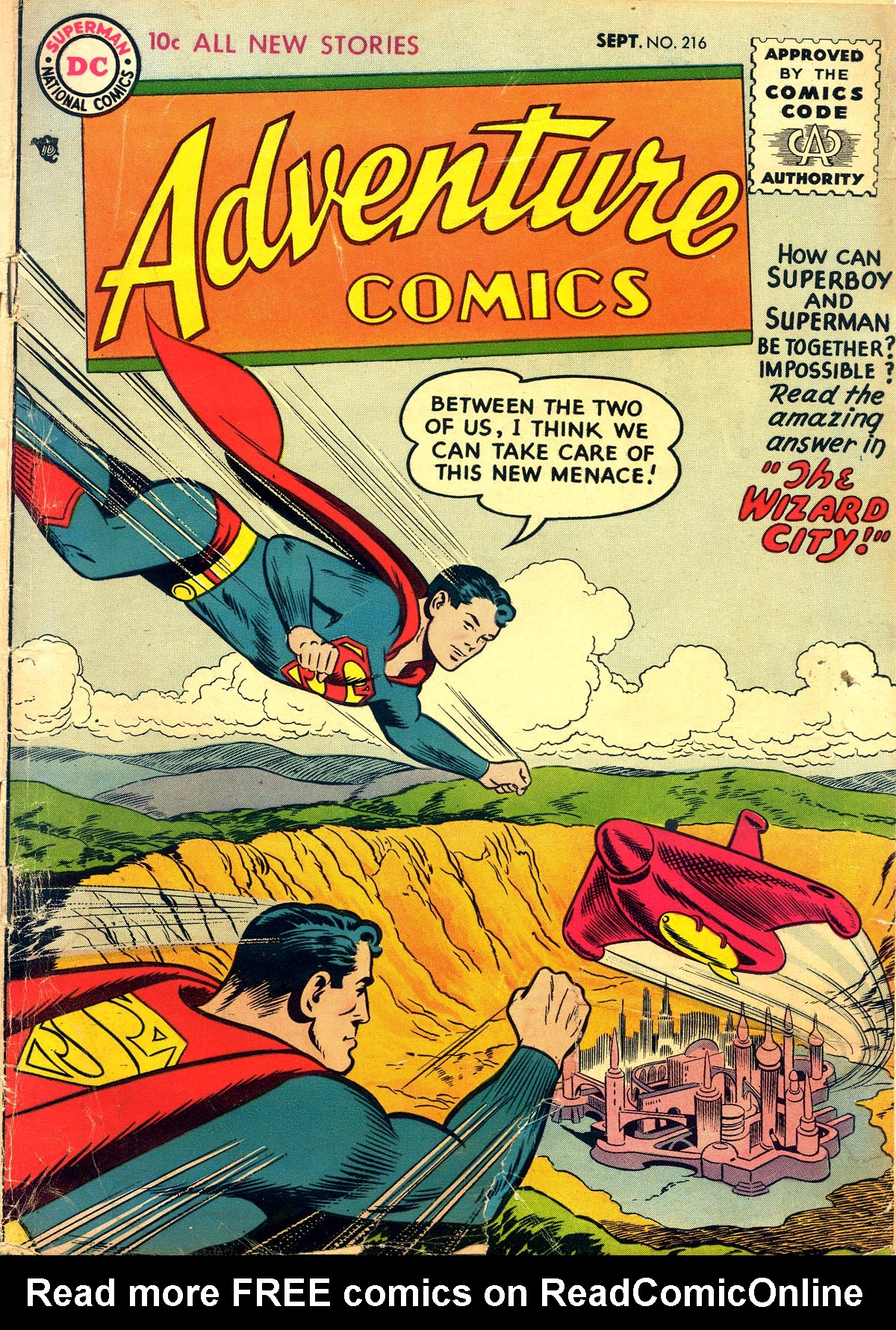 Read online Adventure Comics (1938) comic -  Issue #216 - 1