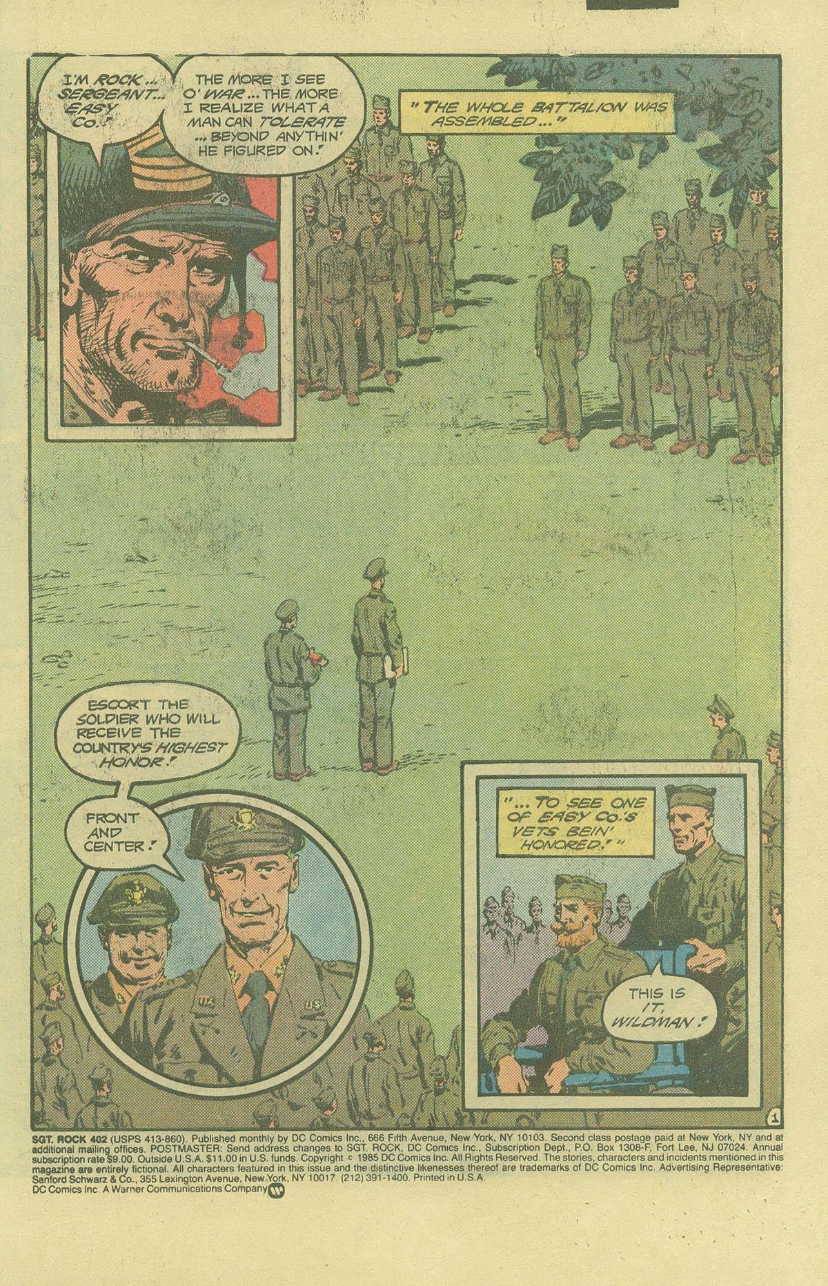 Read online Sgt. Rock comic -  Issue #402 - 3