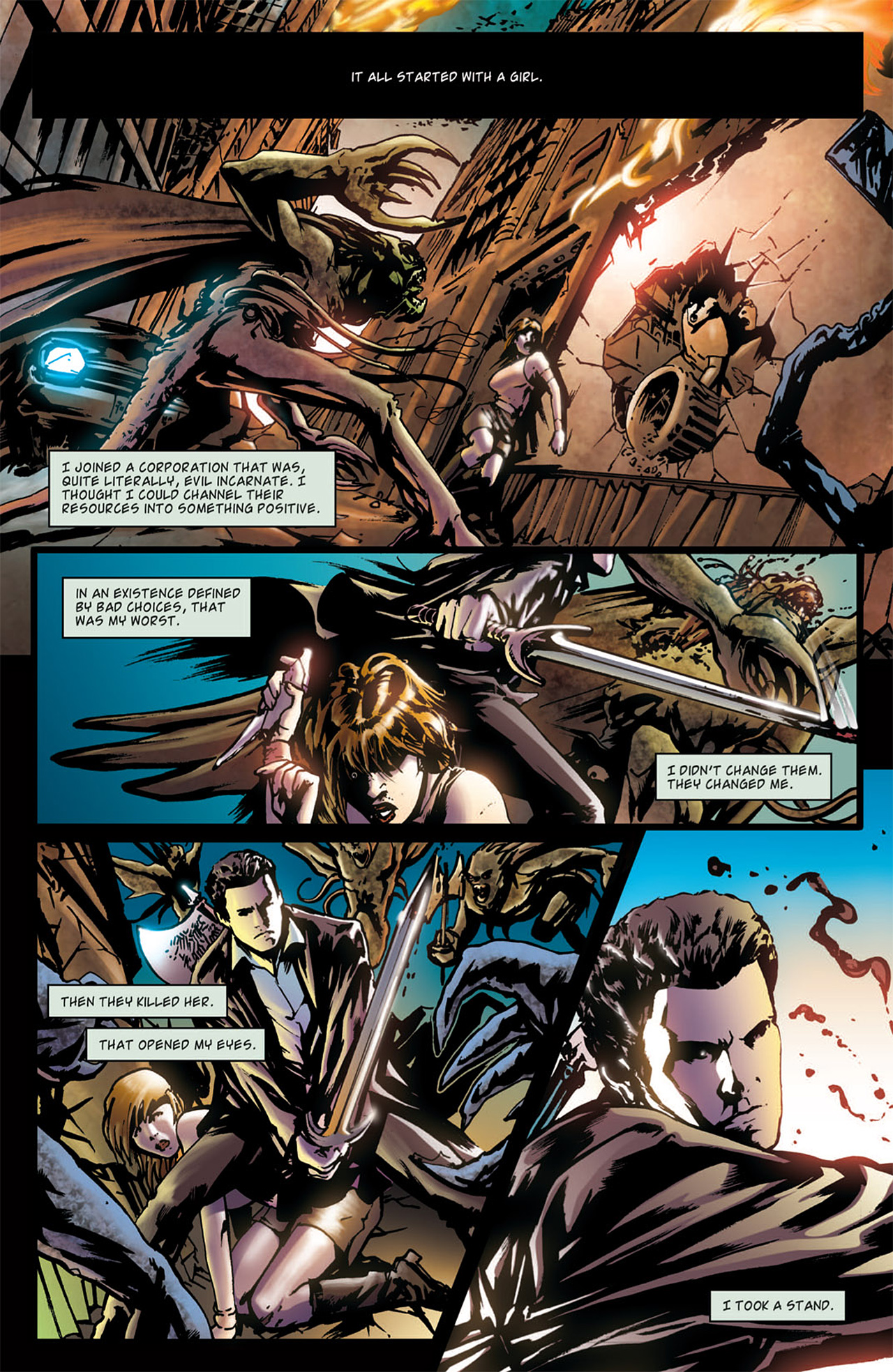 Read online Angel: After The Fall comic -  Issue #1 - 4
