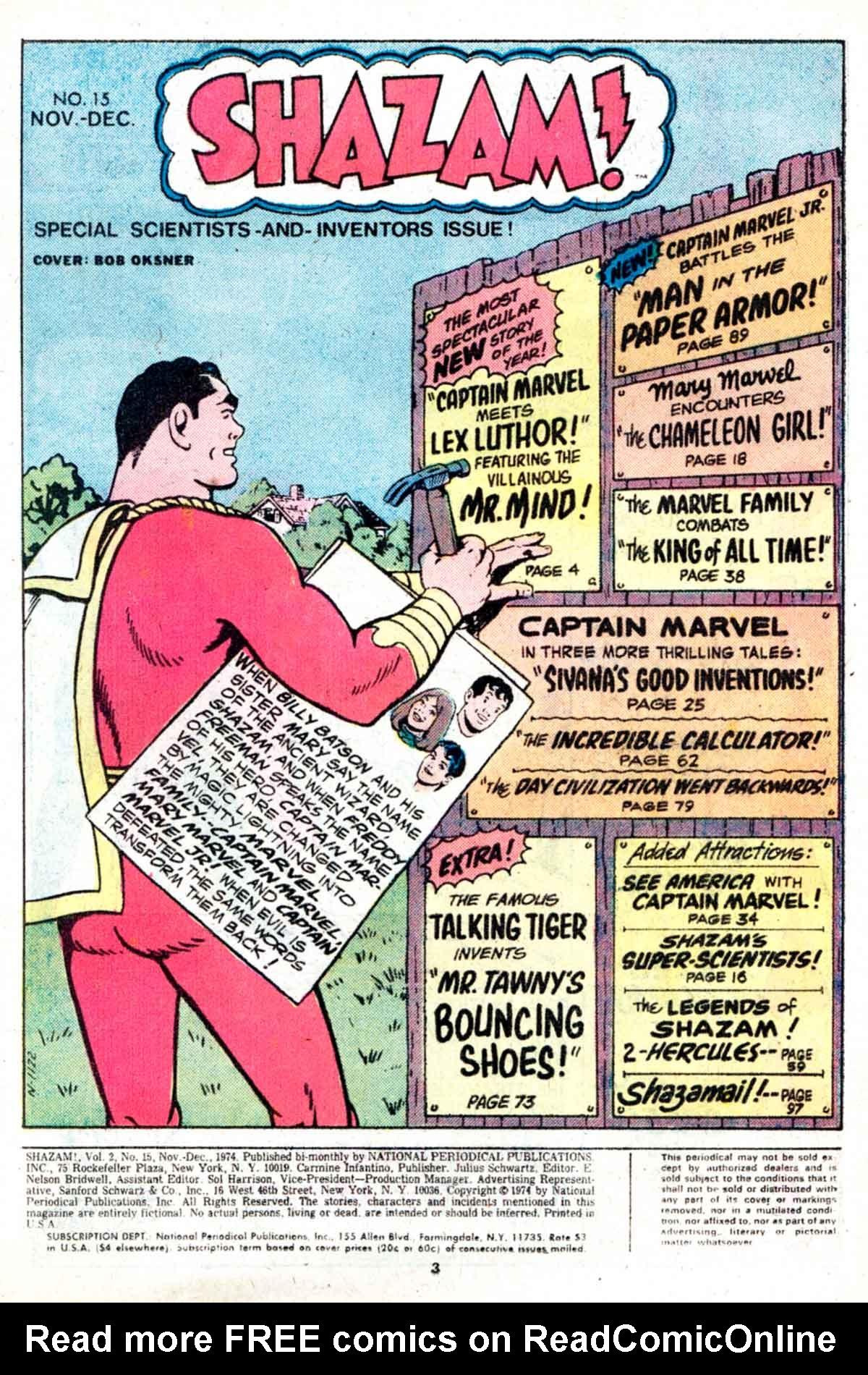 Read online Shazam! (1973) comic -  Issue #15 - 3