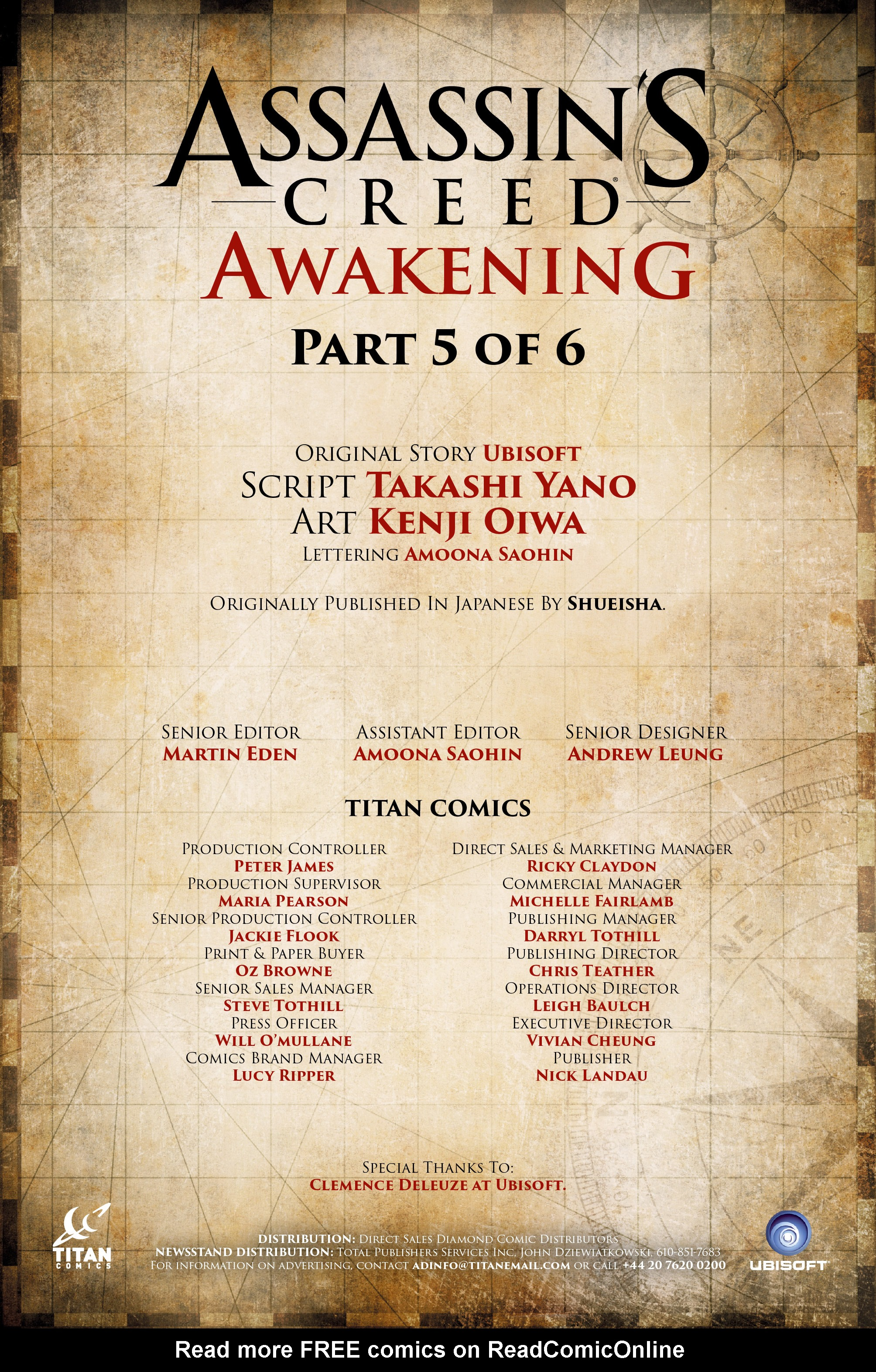 Read online Assassin's Creed: Awakening comic -  Issue #5 - 2