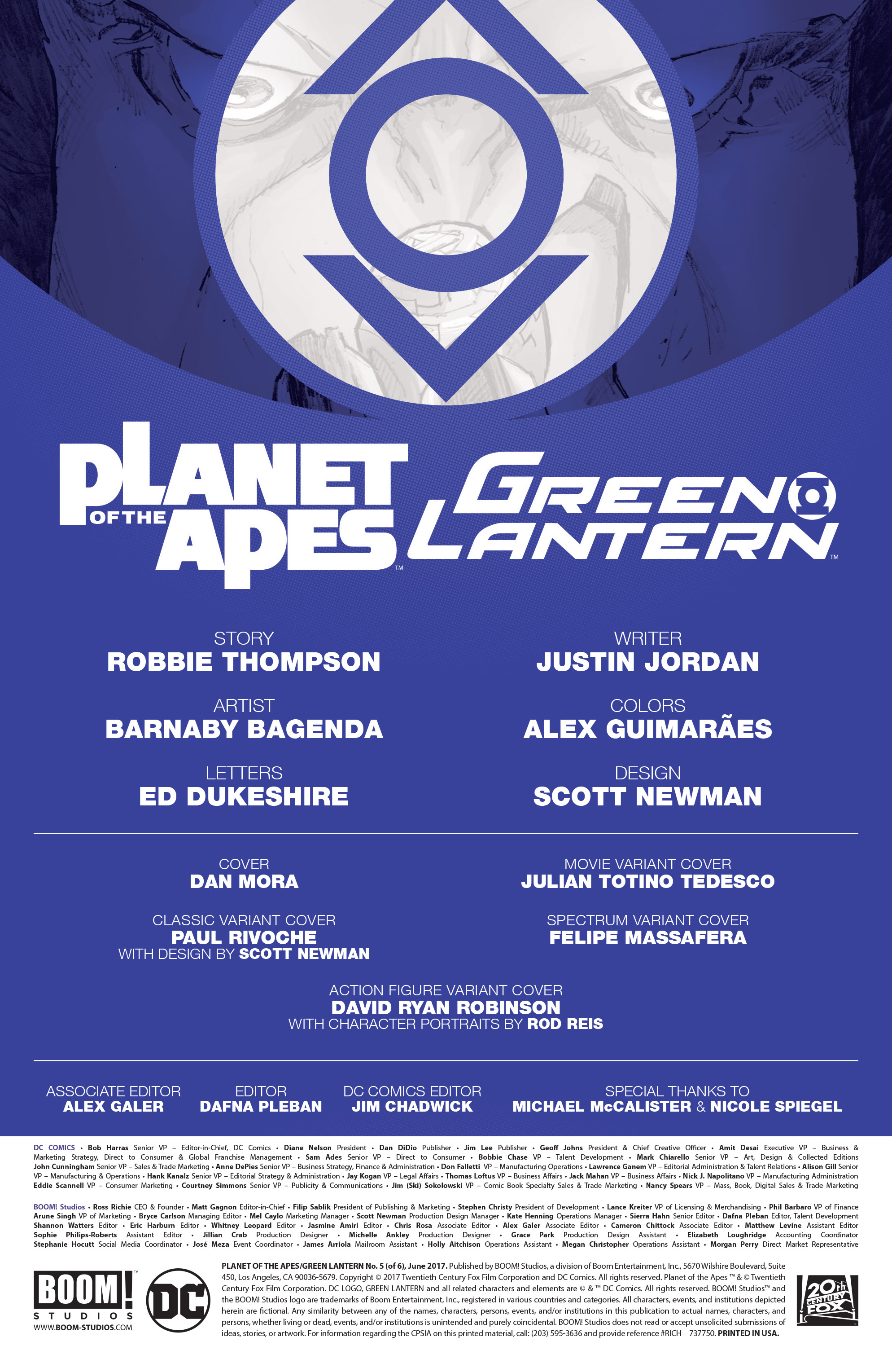 Read online Planet of the Apes/Green Lantern comic -  Issue #5 - 2