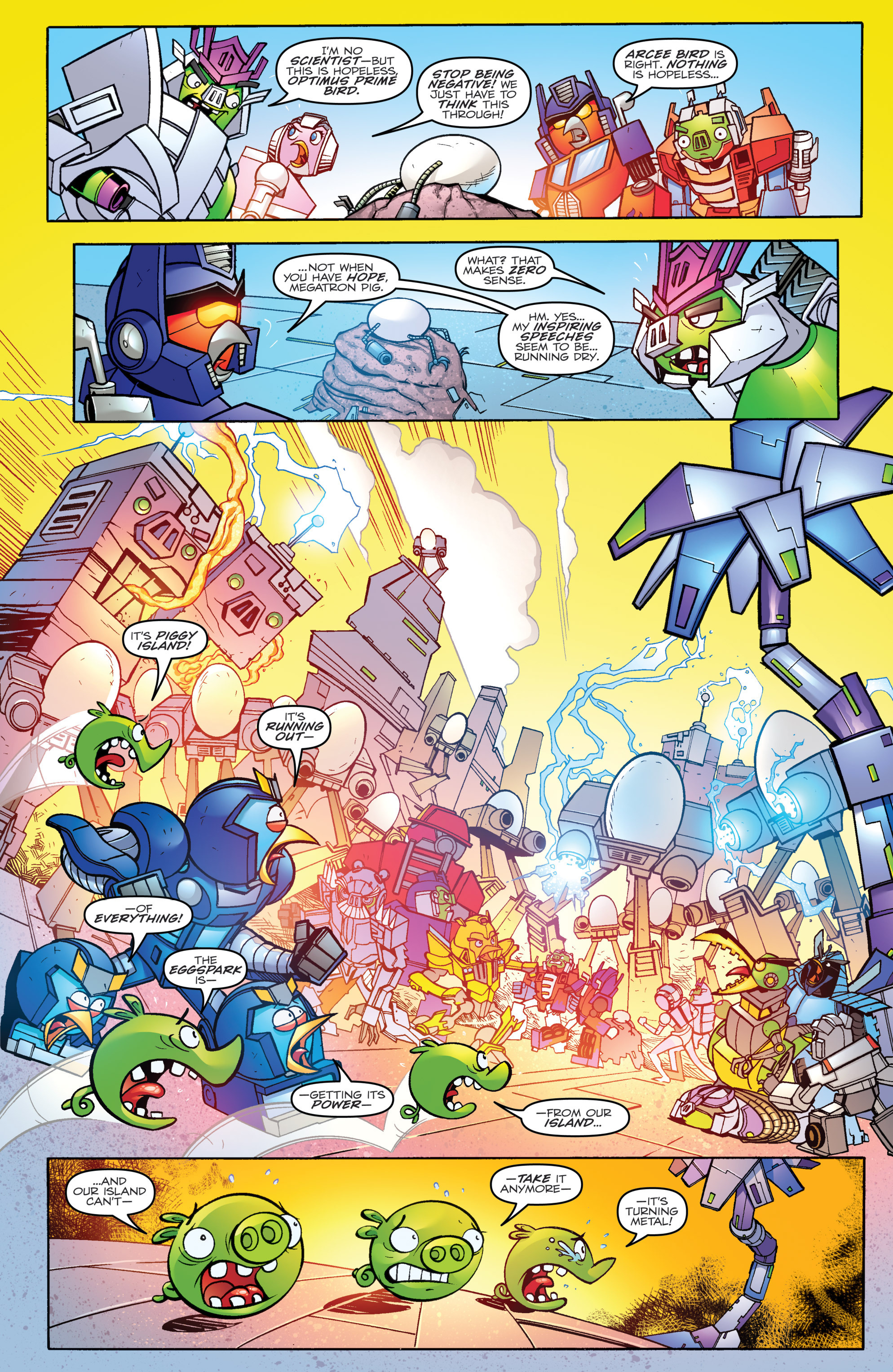 Read online Angry Birds Transformers comic -  Issue #4 - 3