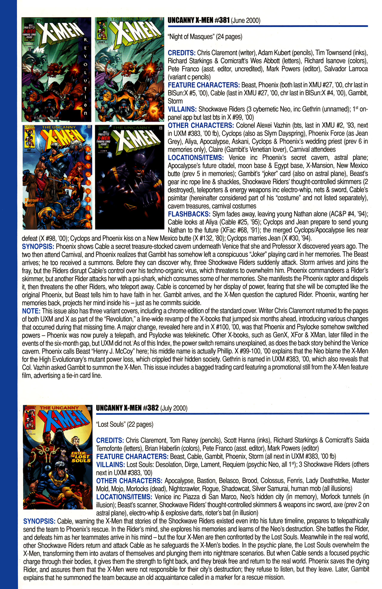 Read online Official Index to the Marvel Universe comic -  Issue #10 - 50