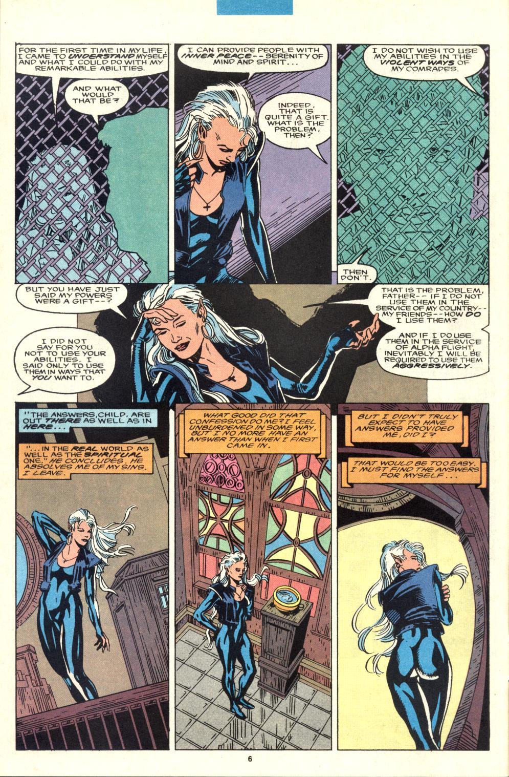 Read online Alpha Flight (1983) comic -  Issue #95 - 6