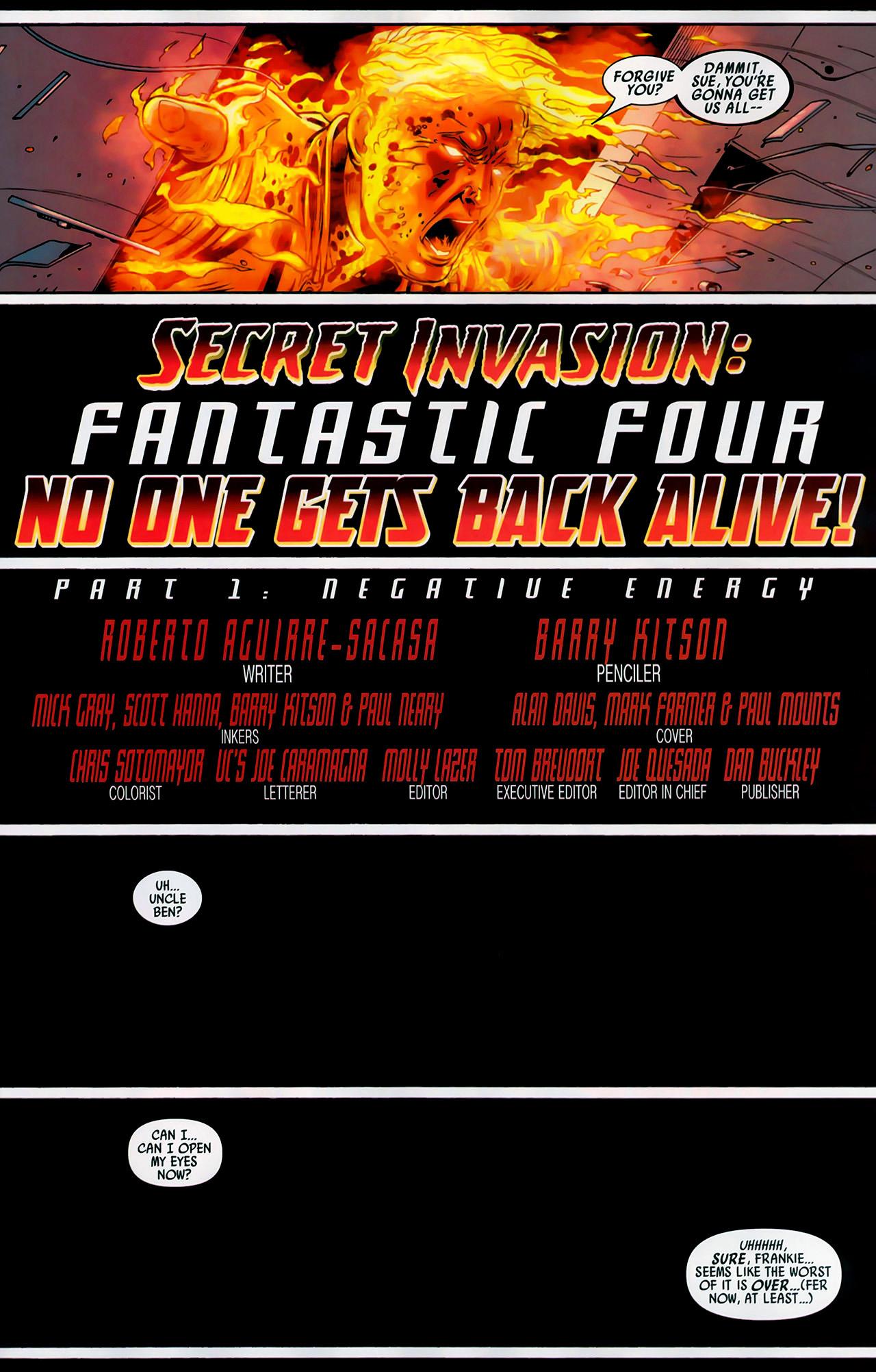 Read online Secret Invasion: Fantastic Four comic -  Issue #1 - 10