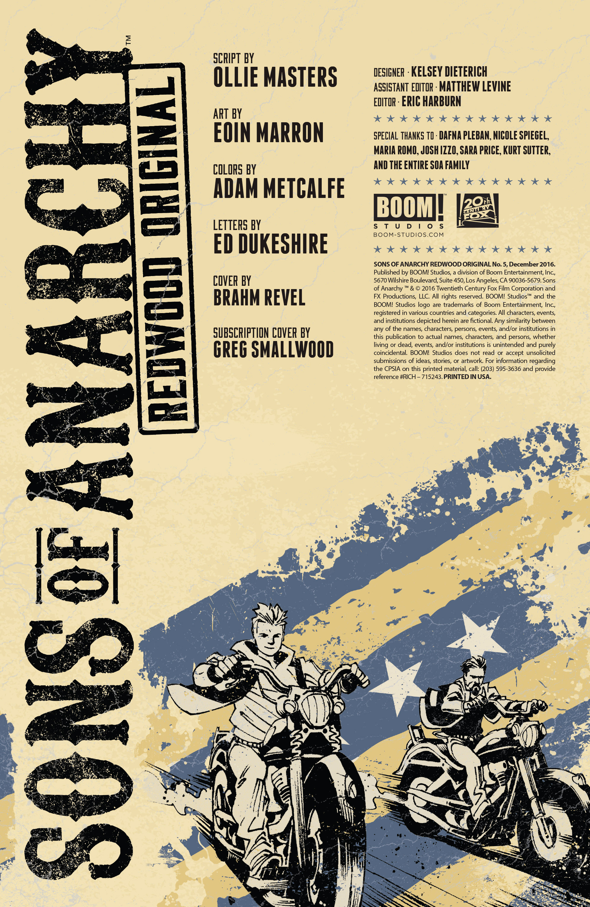 Read online Sons of Anarchy: Redwood Original comic -  Issue #5 - 2