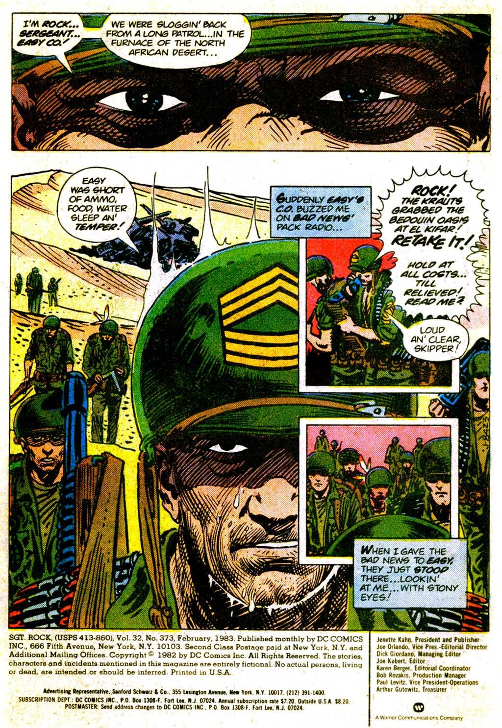 Read online Sgt. Rock comic -  Issue #373 - 3