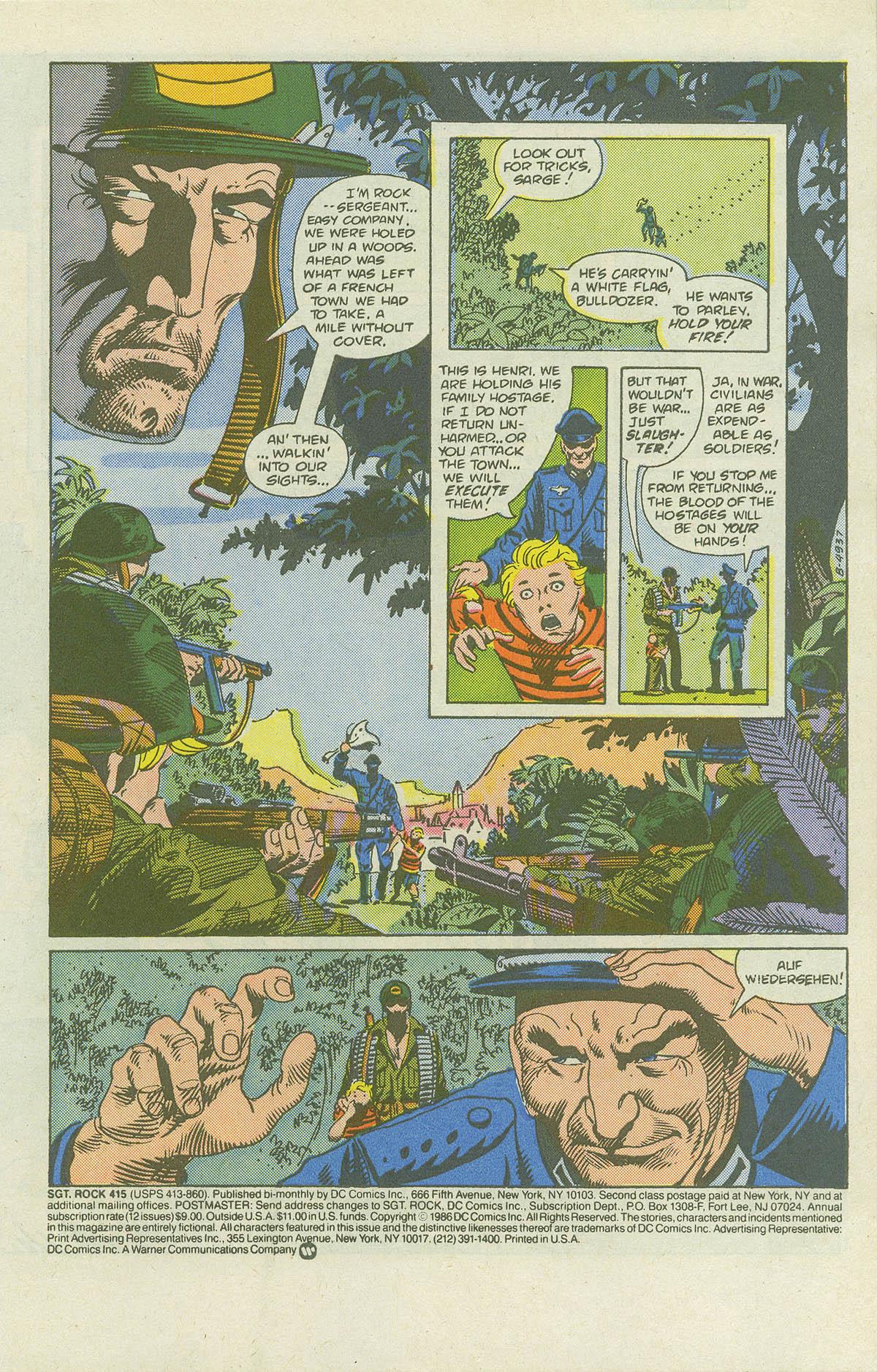 Read online Sgt. Rock comic -  Issue #415 - 3