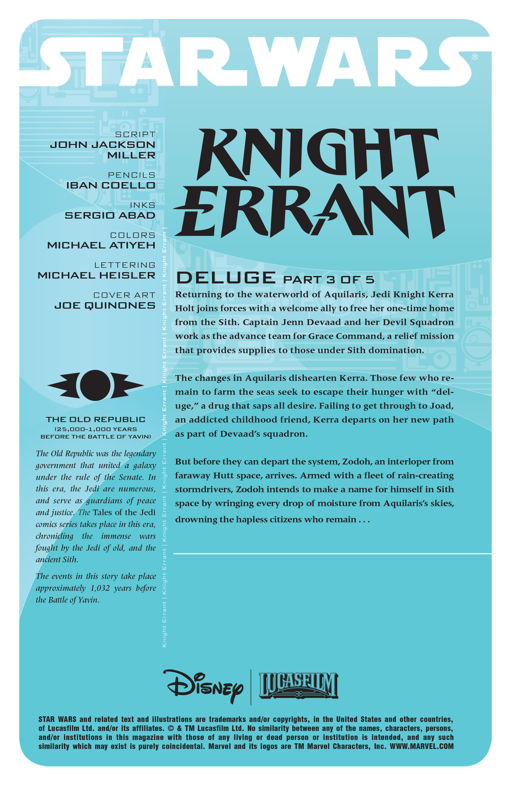 Read online Star Wars: Knight Errant - Deluge comic -  Issue #3 - 2