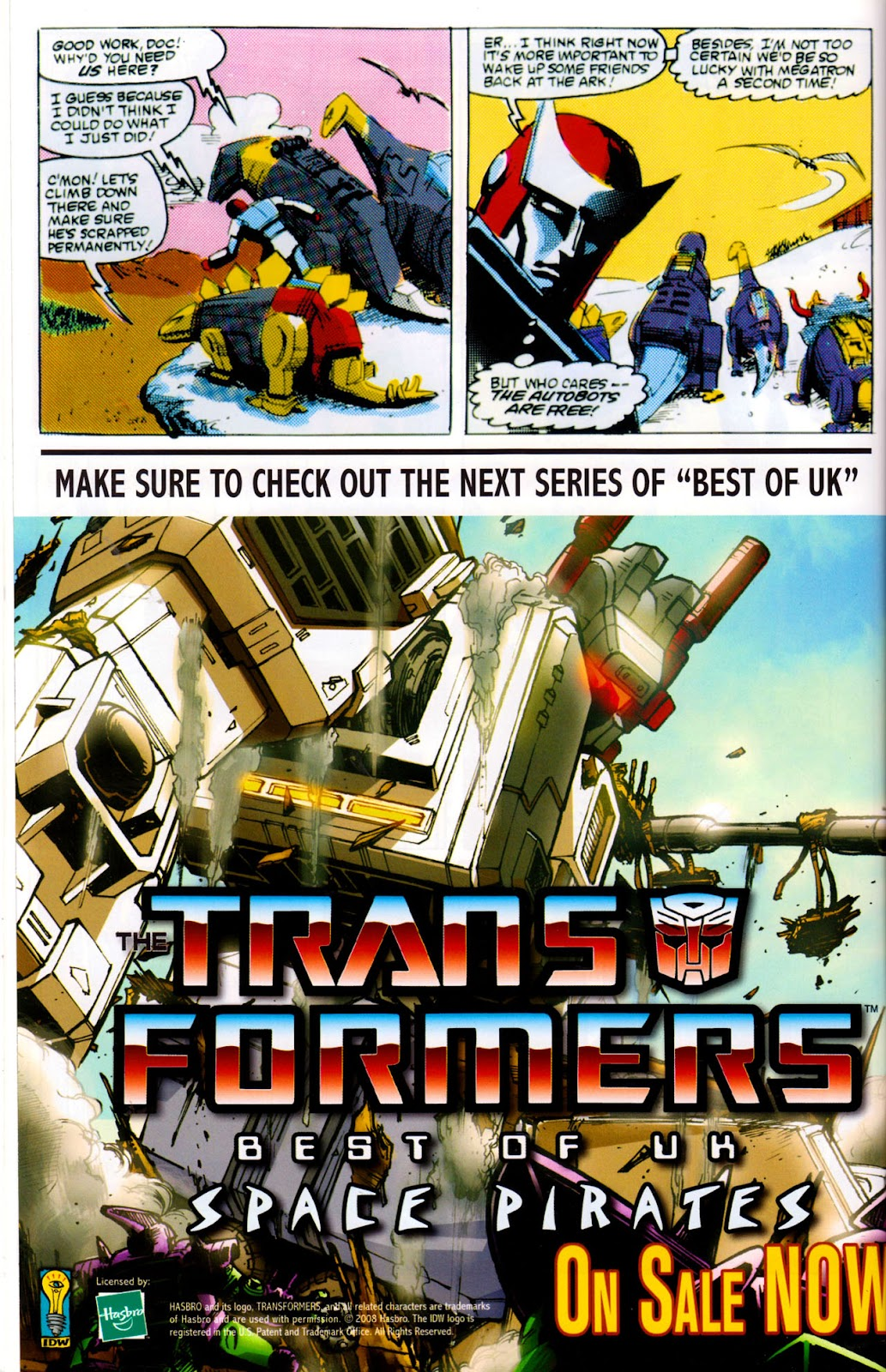 Read online The Transformers: Best of UK: Dinobots comic -  Issue #6 - 35
