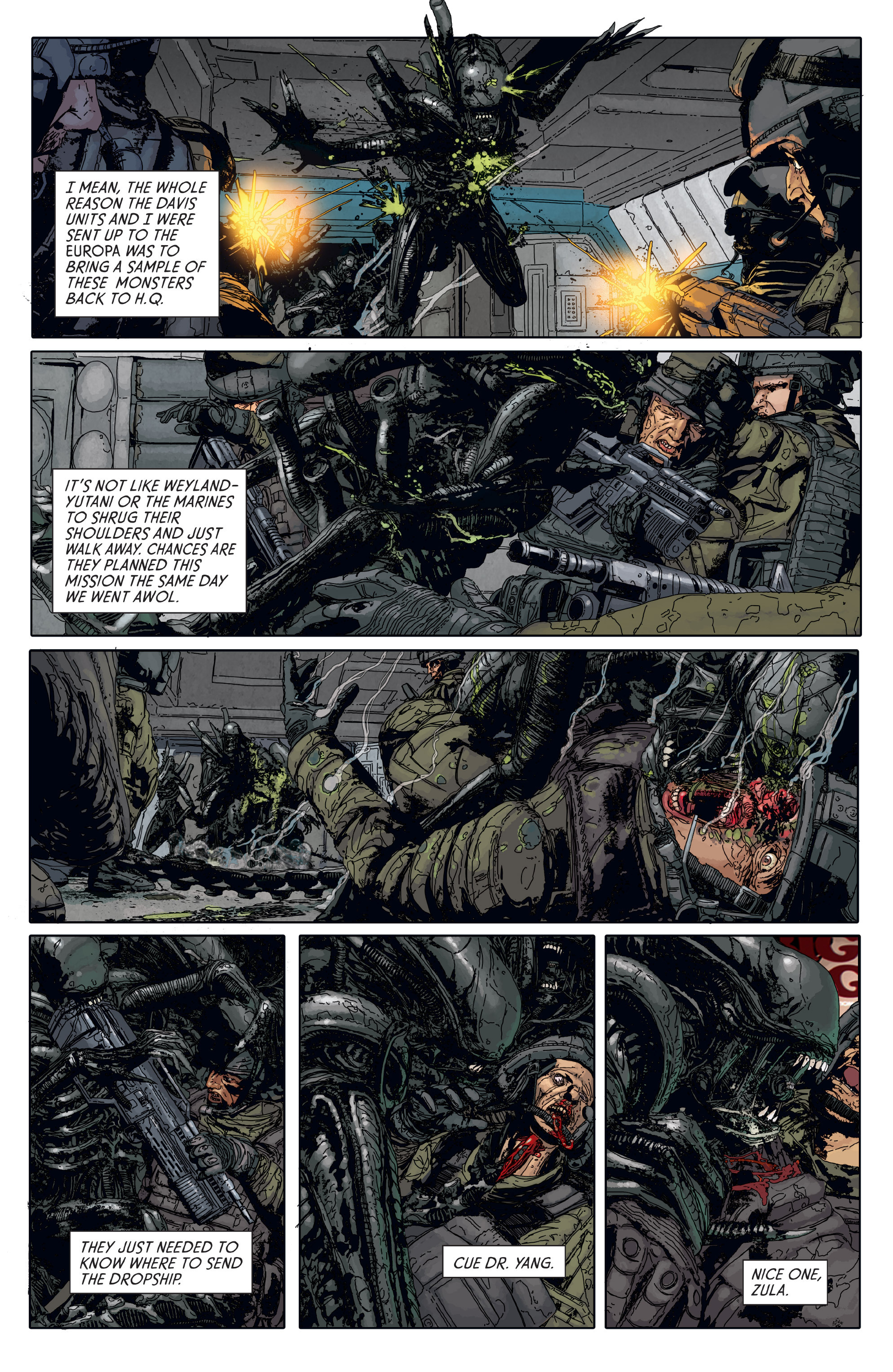 Read online Aliens: Defiance comic -  Issue #6 - 4