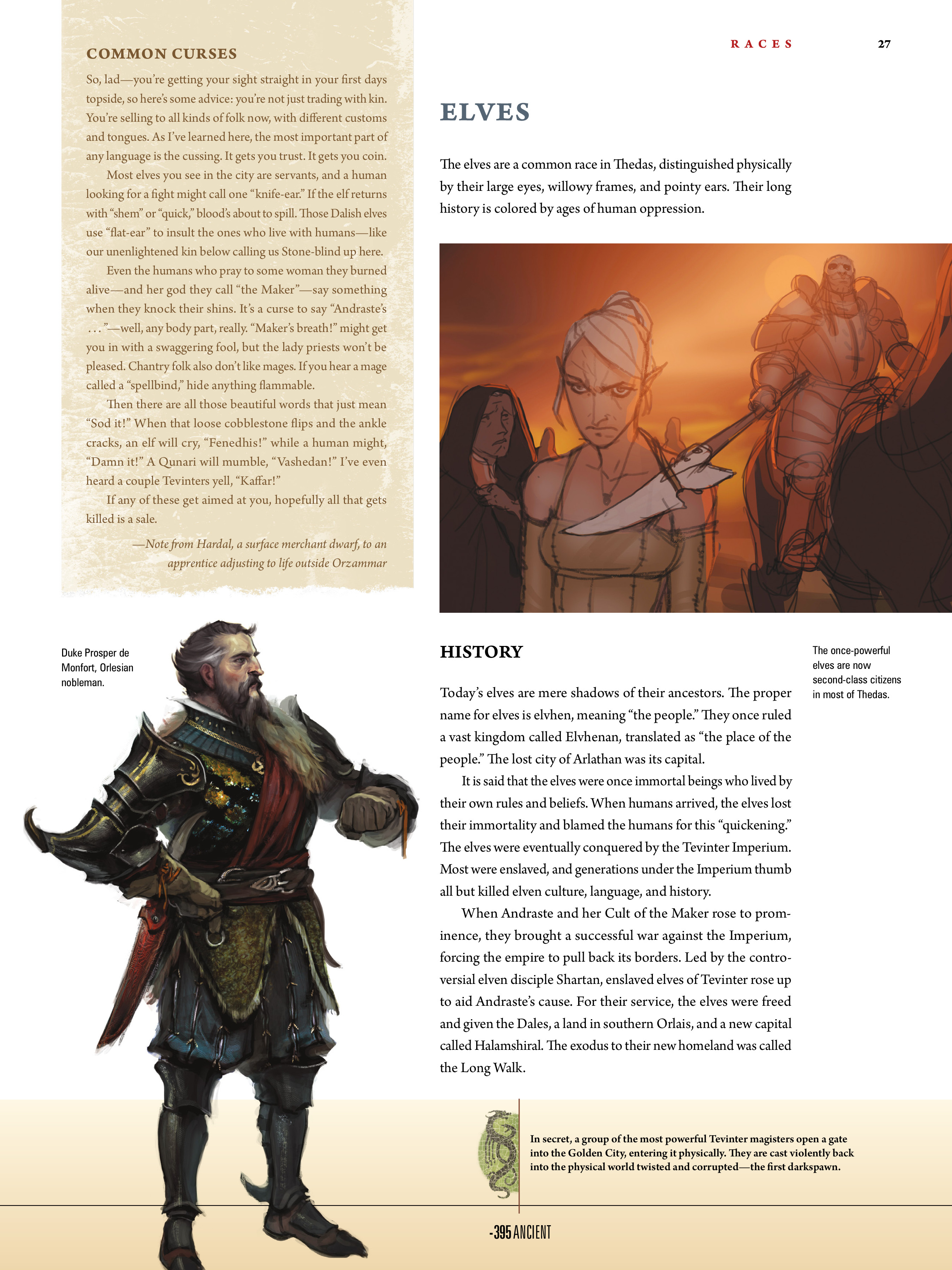 Read online Dragon Age: The World of Thedas comic -  Issue # TPB 1 - 22