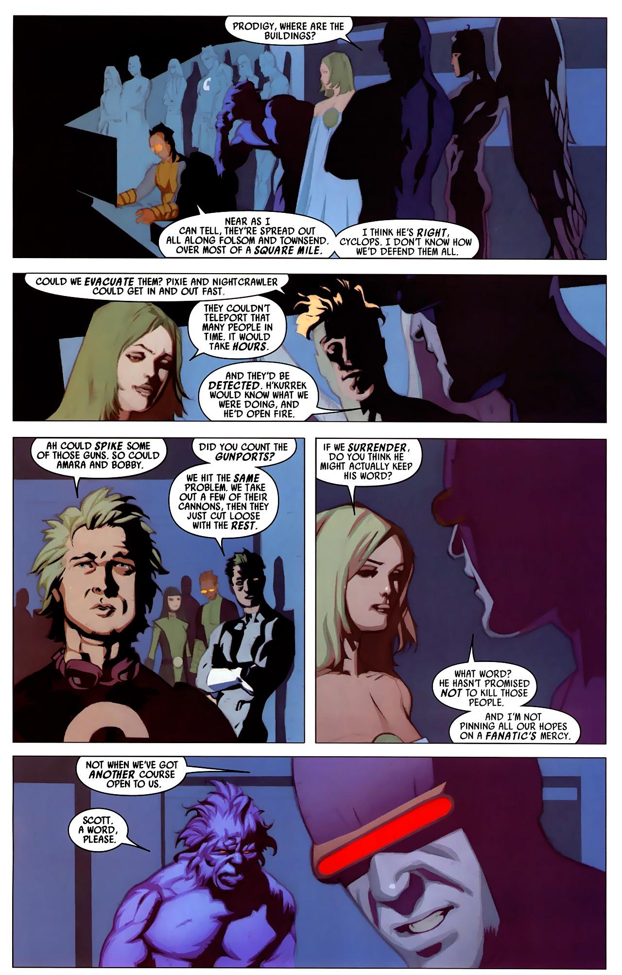 Read online Secret Invasion: X-Men comic -  Issue #4 - 5