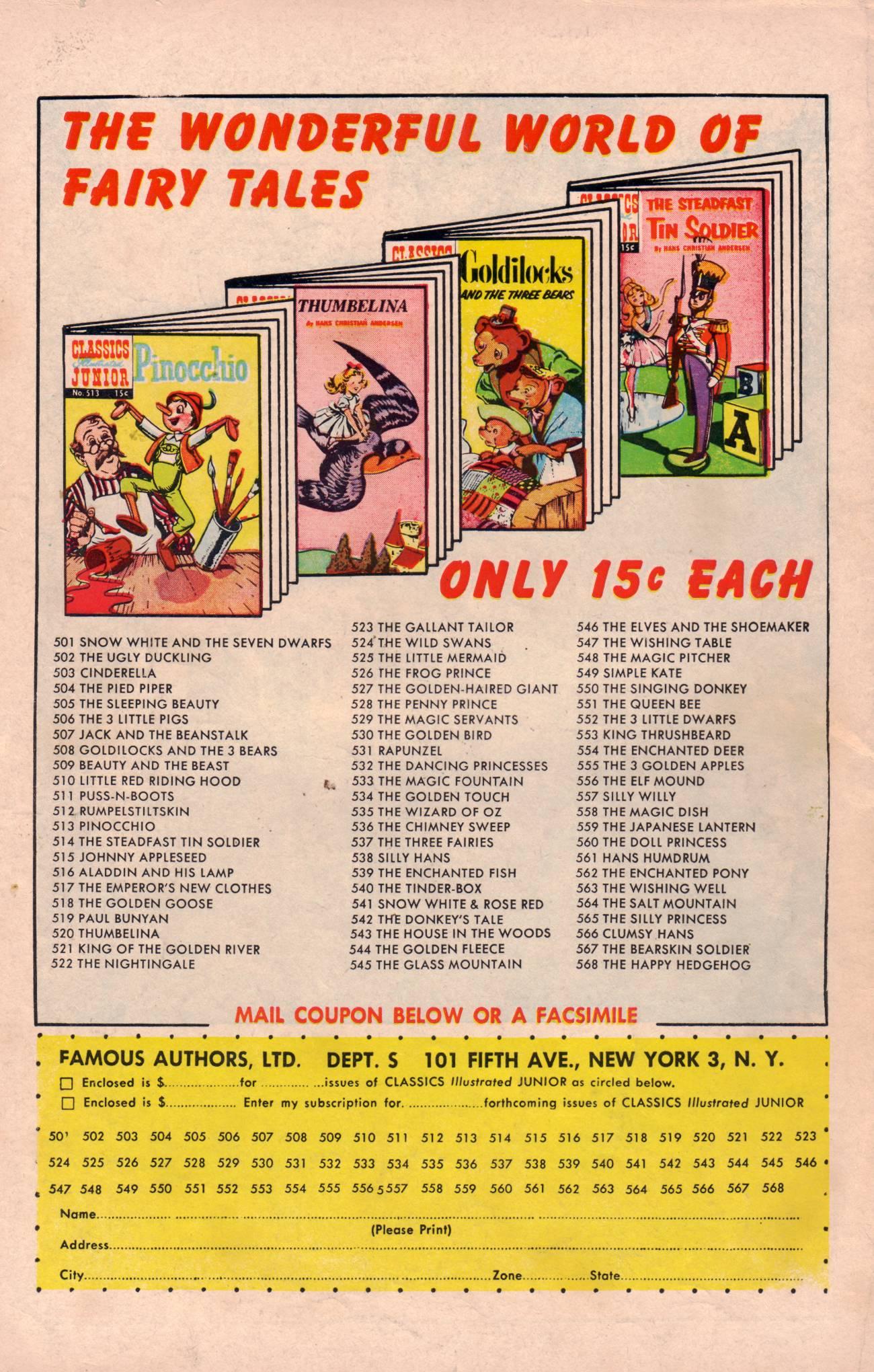 Classics Illustrated Junior 519 Page 36