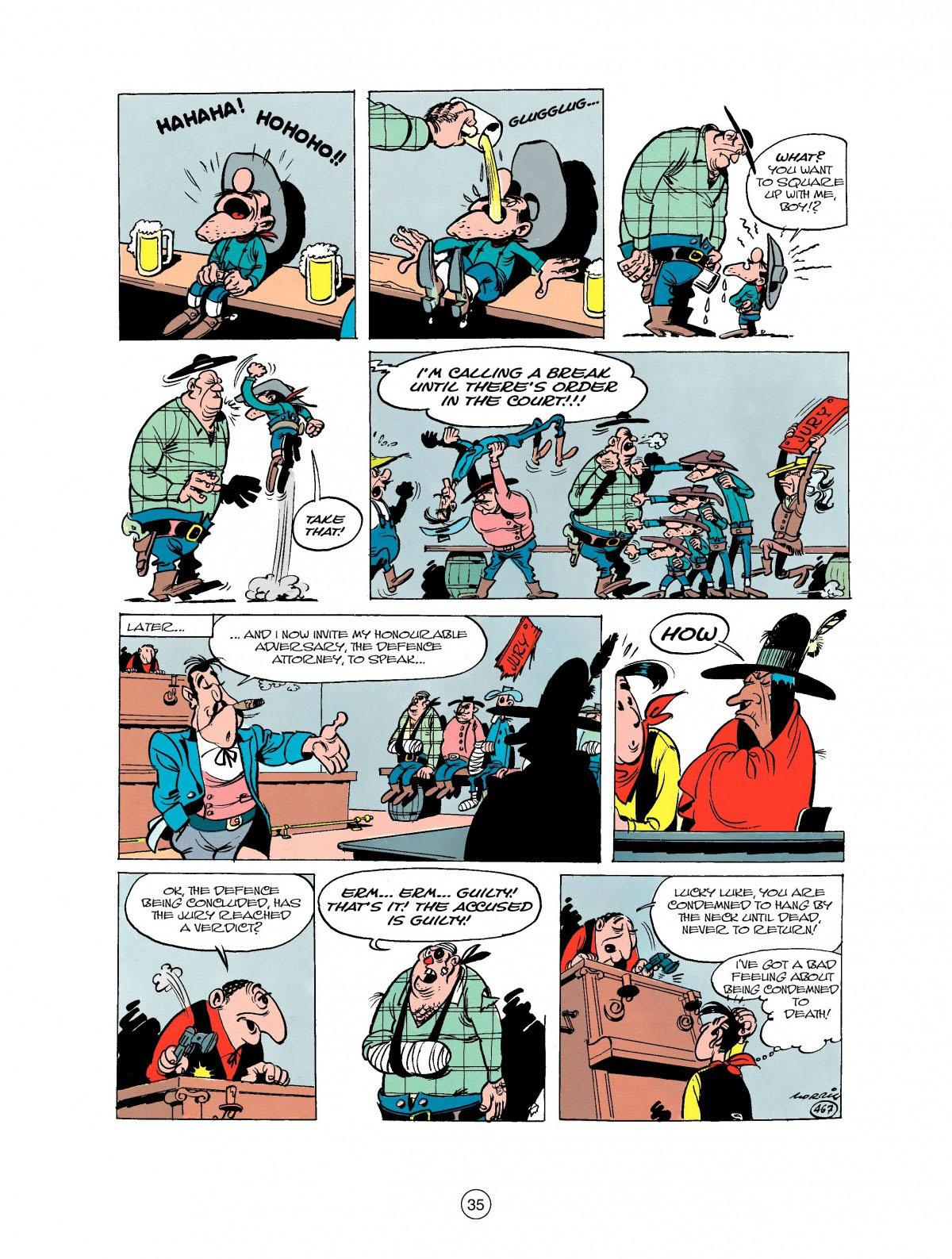 Read online A Lucky Luke Adventure comic -  Issue #27 - 36