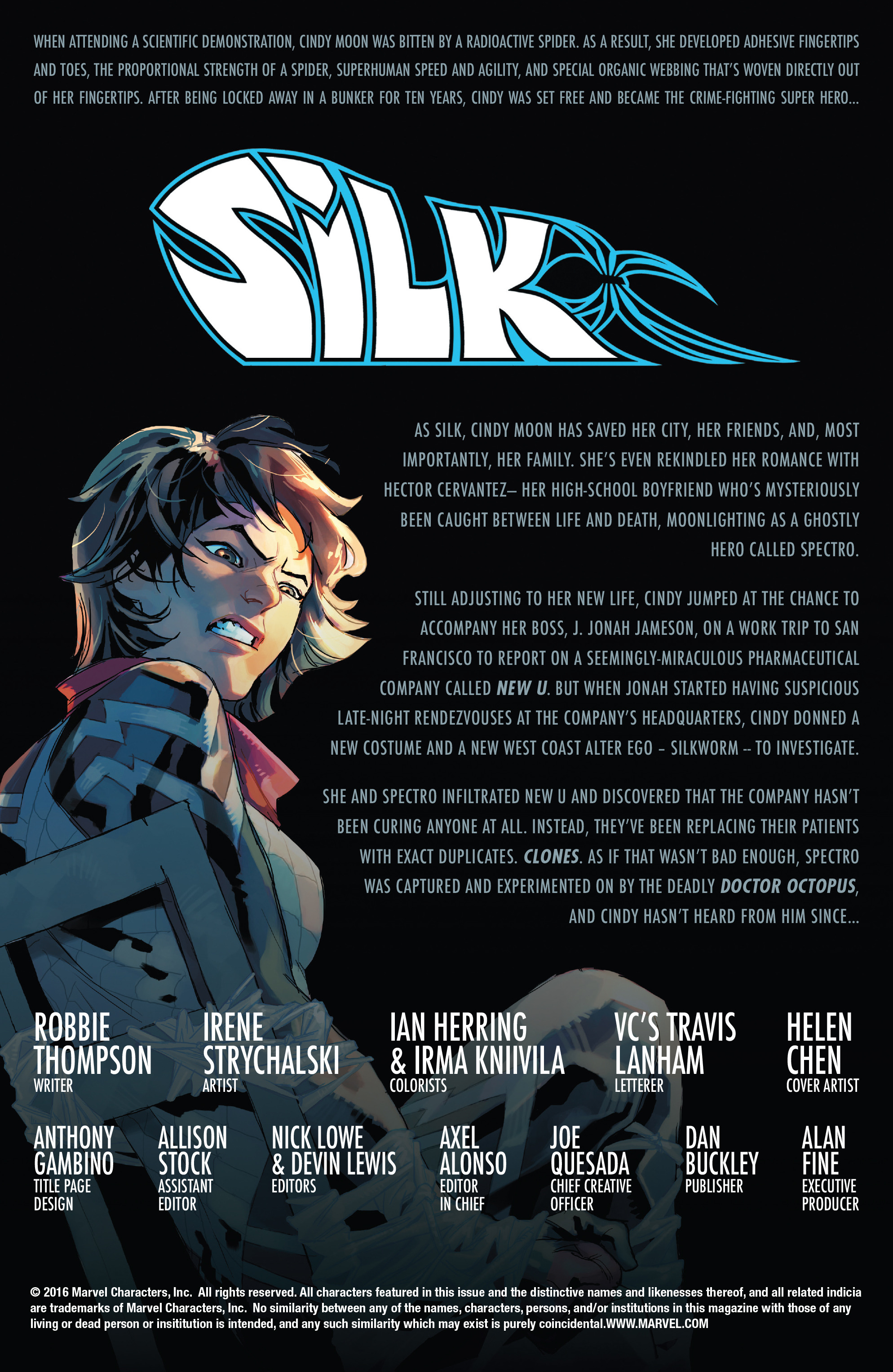 Read online Silk (2016) comic -  Issue #16 - 2
