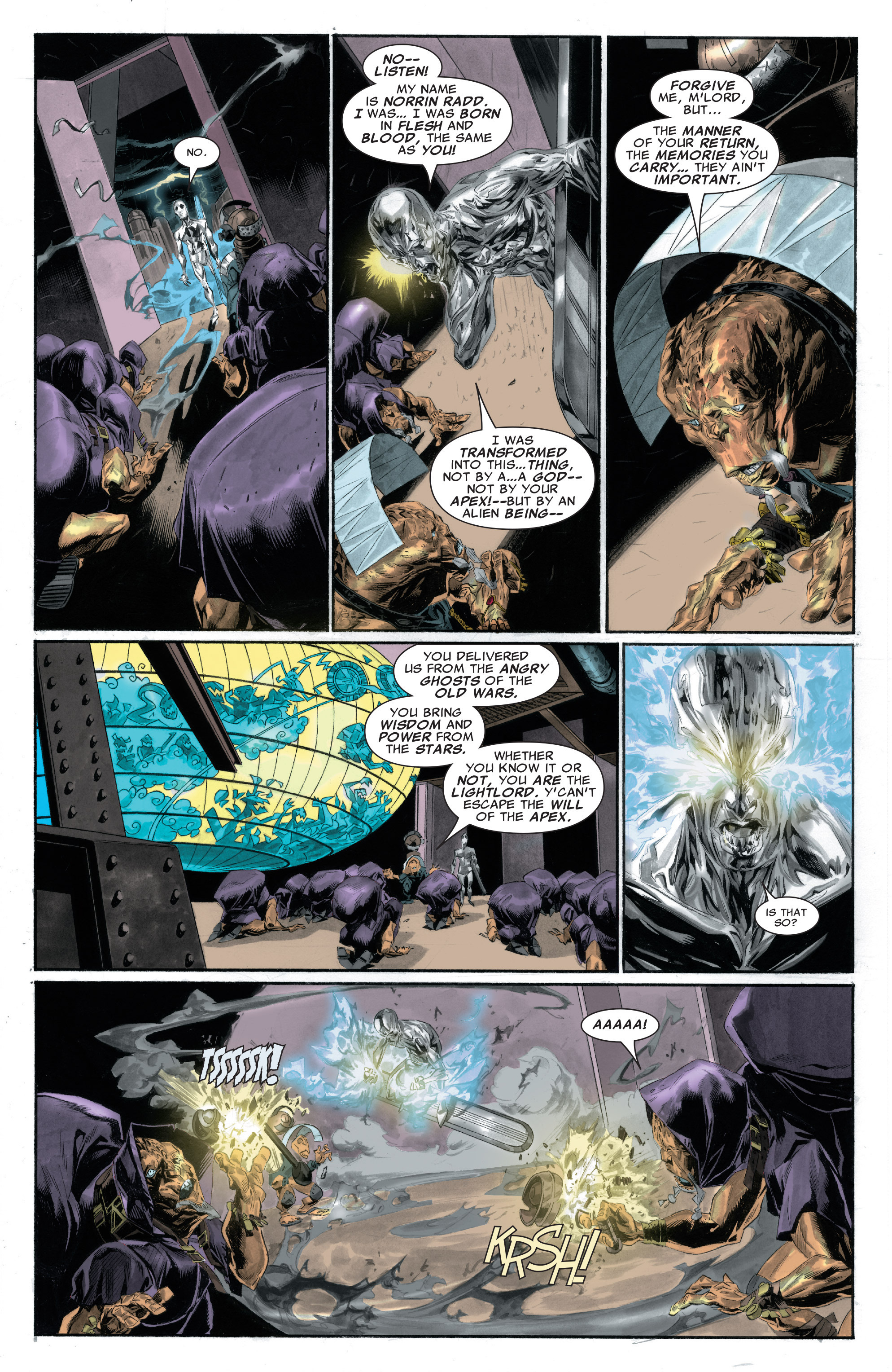 Read online Silver Surfer: In Thy Name comic -  Issue #2 - 16
