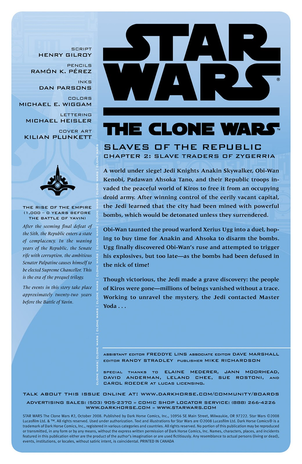 Comic Star Wars: The Clone Wars issue 2
