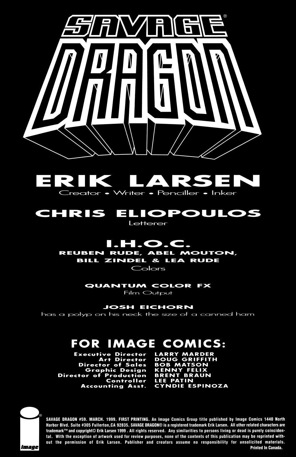 The Savage Dragon (1993) Issue #59 #62 - English 2