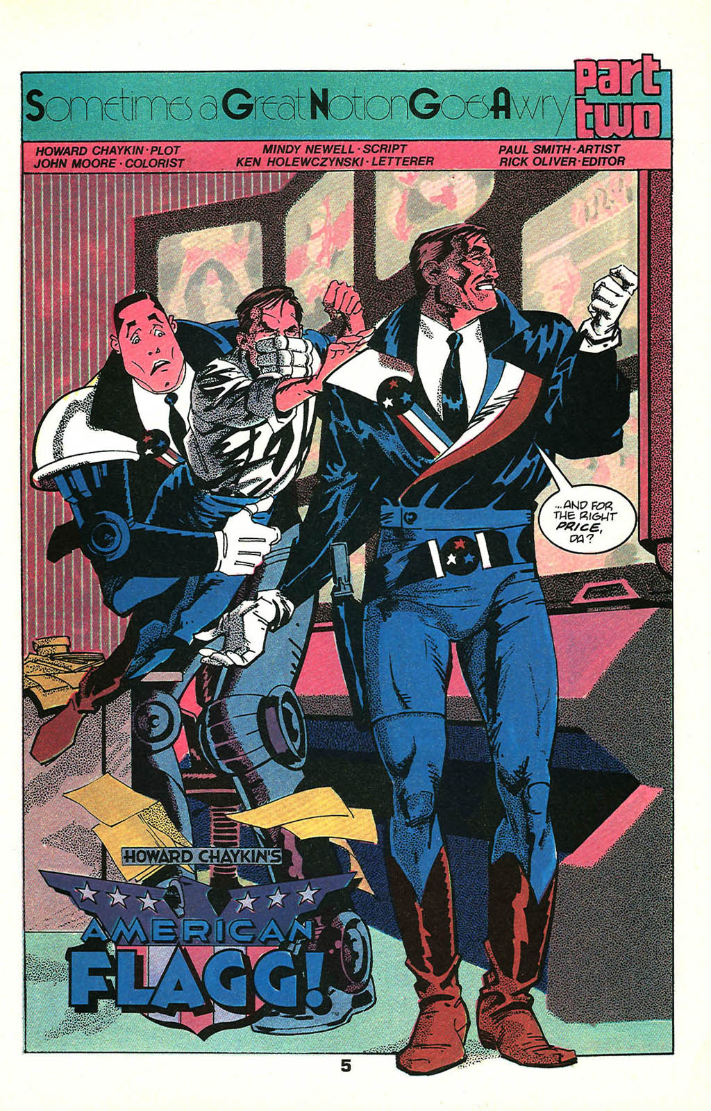Read online American Flagg! comic -  Issue #48 - 7