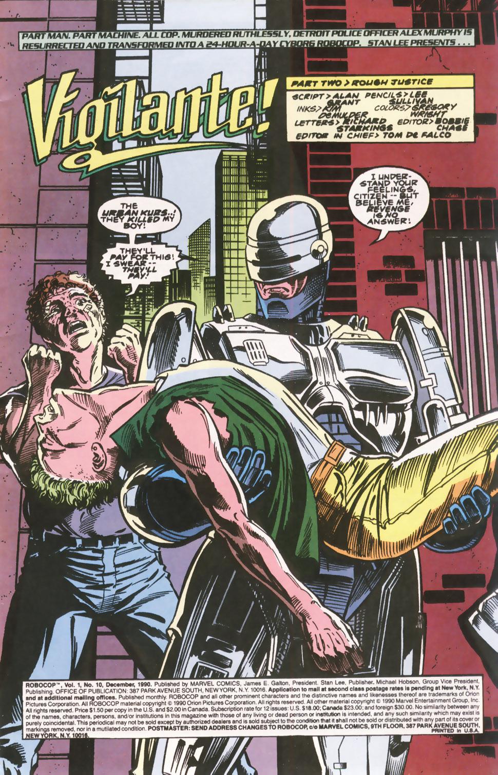 Read online Robocop (1990) comic -  Issue #10 - 2