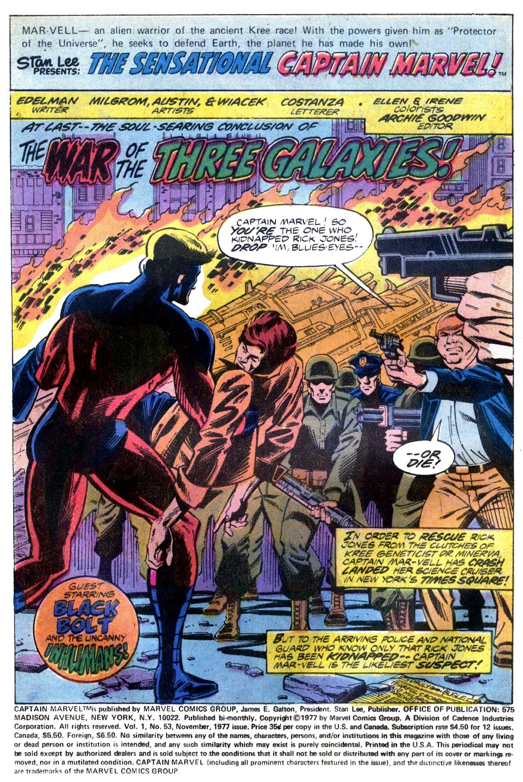 Captain Marvel (1968) issue 53 - Page 2