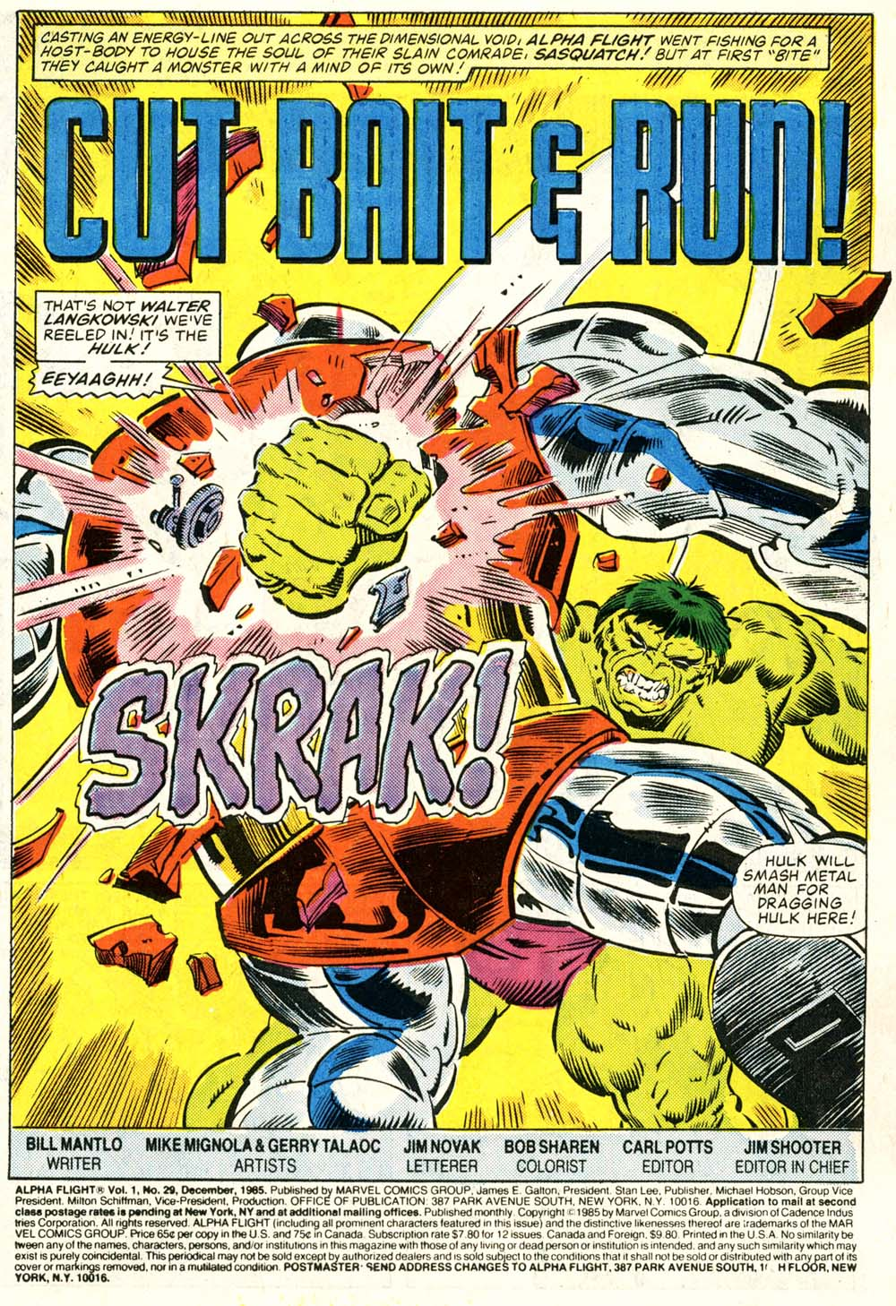 Read online Alpha Flight (1983) comic -  Issue #29 - 2