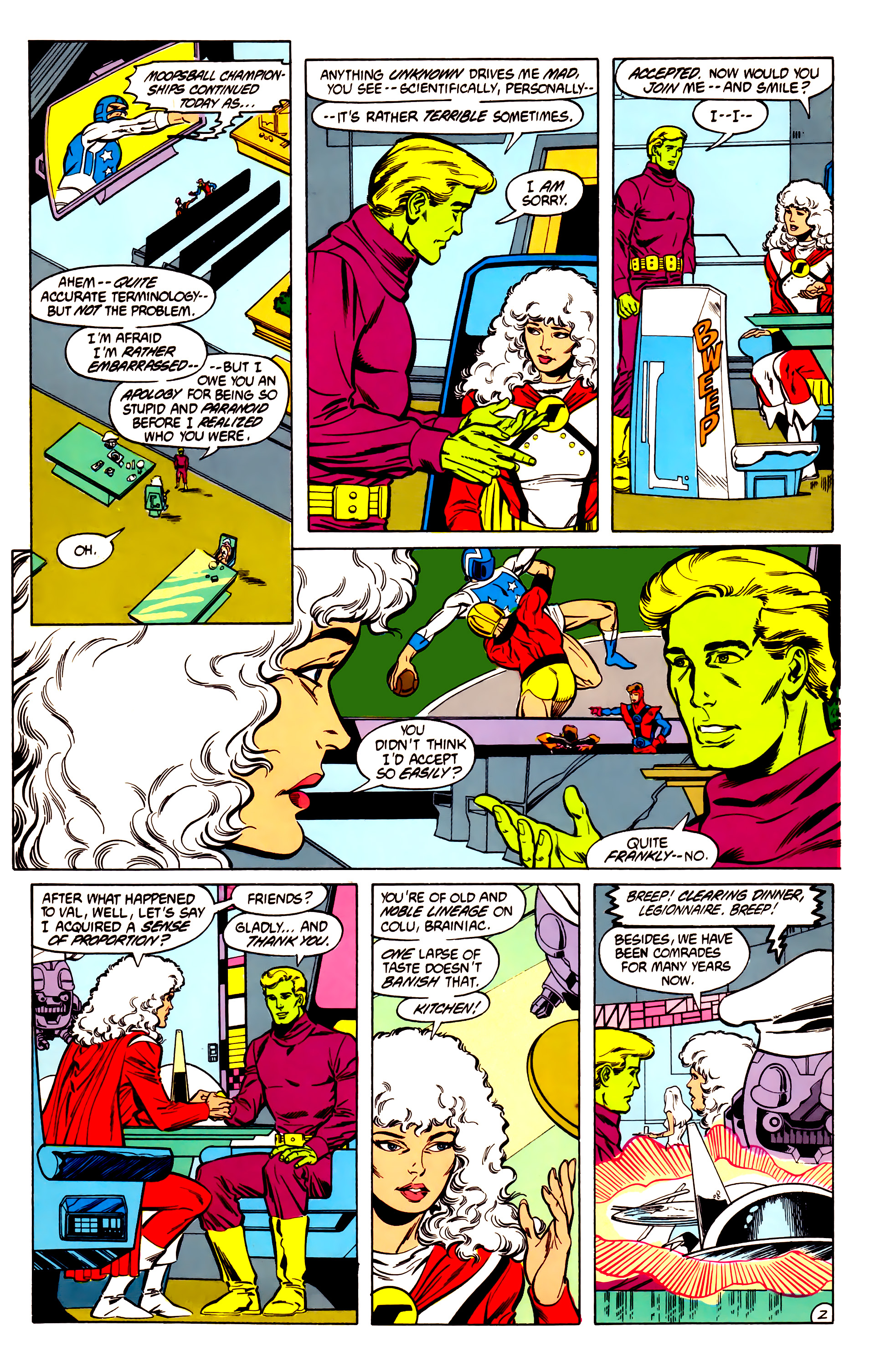 Legion of Super-Heroes (1984) 30 Page 2