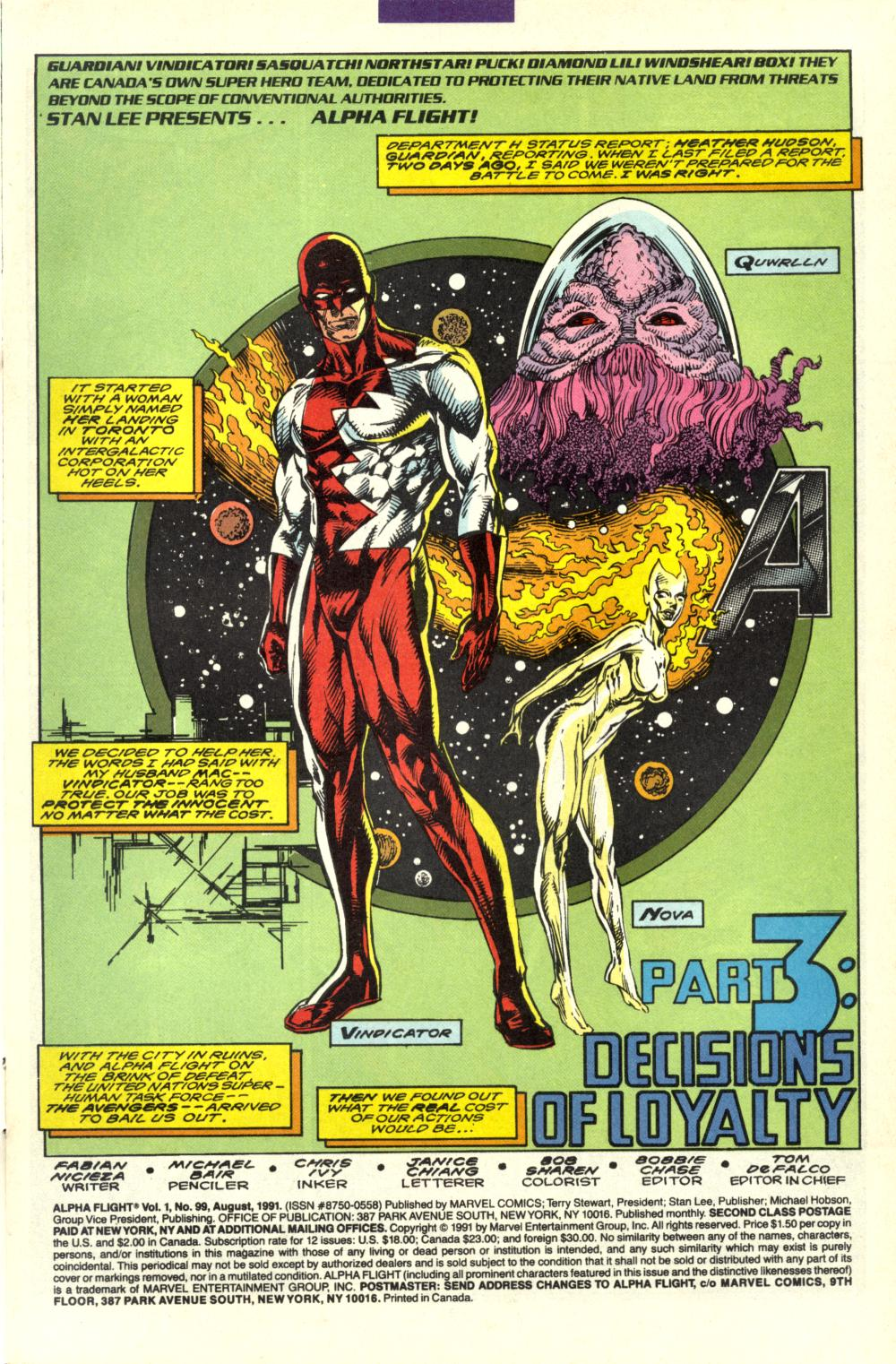 Read online Alpha Flight (1983) comic -  Issue #99 - 2