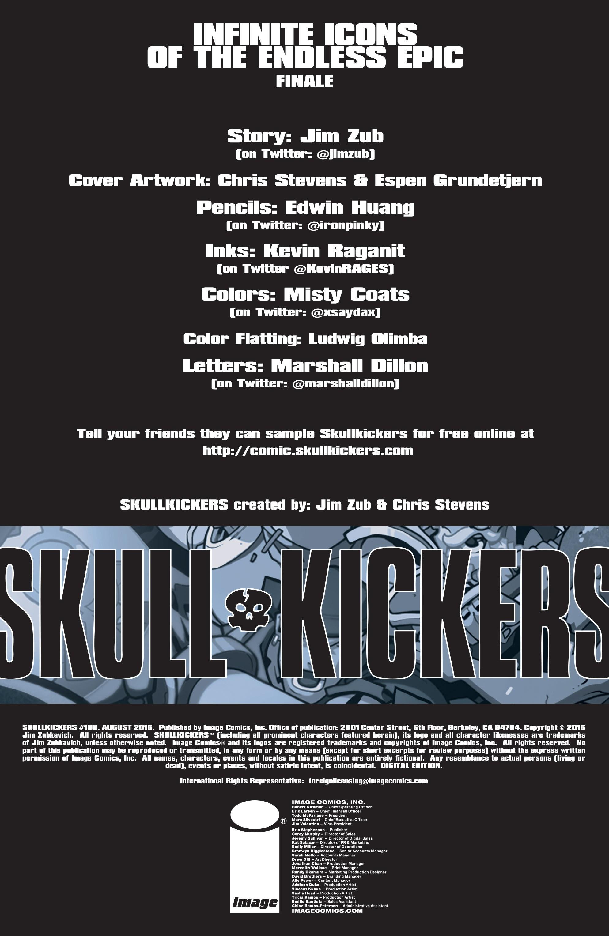 Read online Skullkickers comic -  Issue #100 - 2
