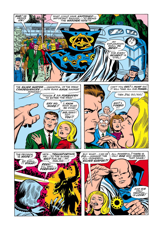 """... Surfer """"toàn năng"""", Watcher Uatu đã nói với cô rằng chỉ có một thực thể  duy nhất thực sự """"toàn năng"""" và """"Vũ khí duy nhất của ông ấy là… tình yêu!""""."""